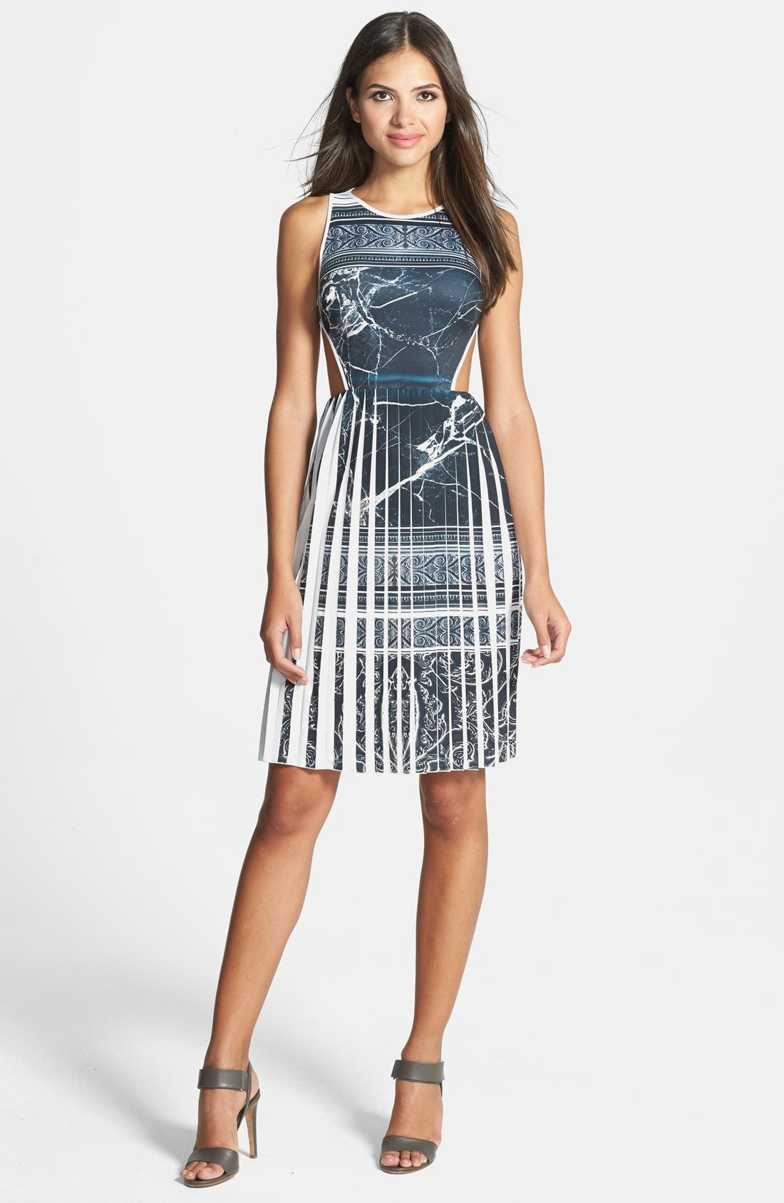 Alternate Image 1 Selected - Clover Canyon 'Etched Marble' Dress