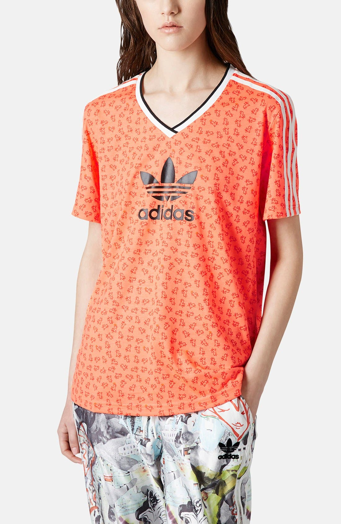 Alternate Image 1 Selected - Topshop x adidas Originals Football Tee