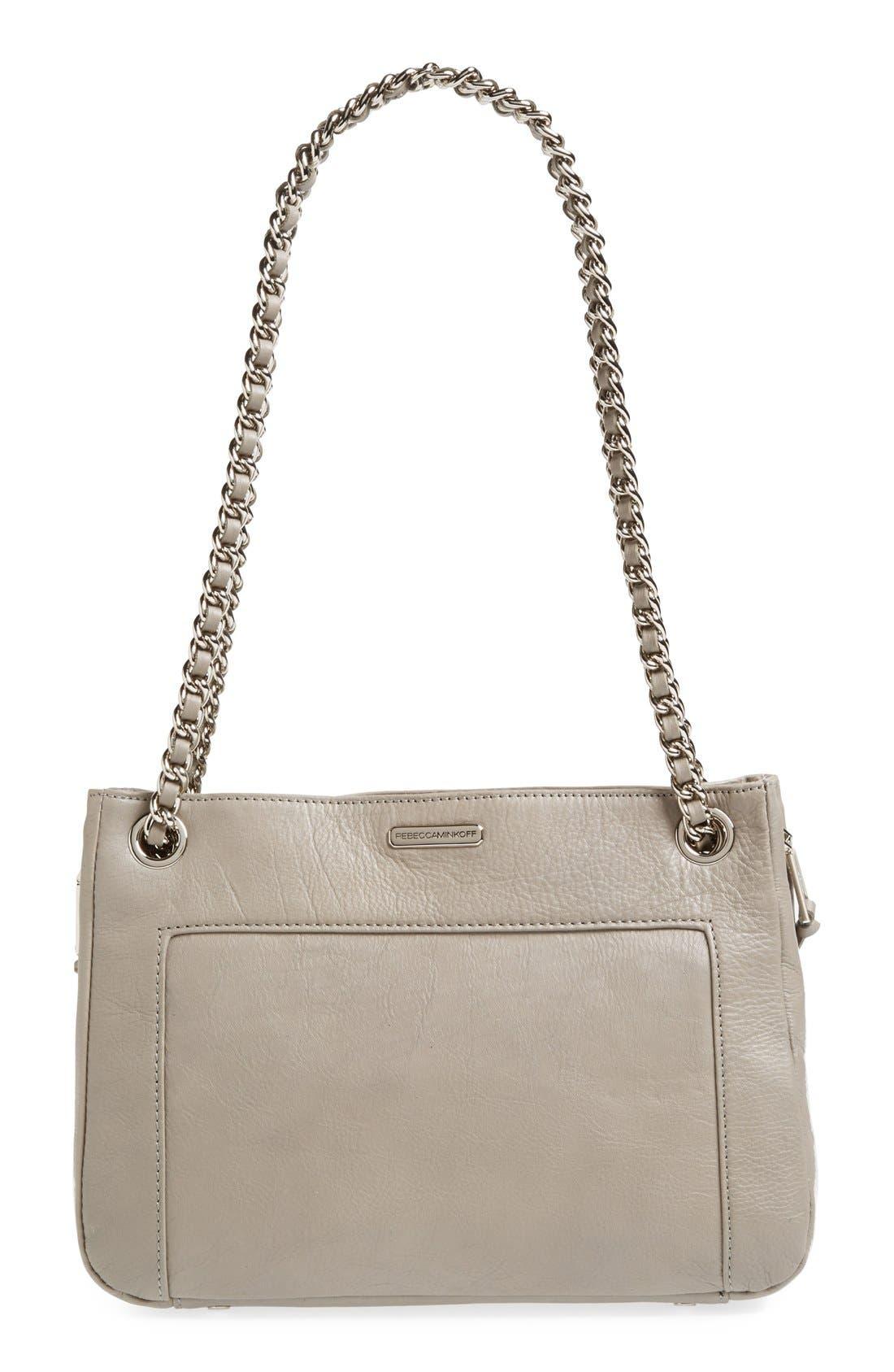 Alternate Image 4  - Rebecca Minkoff 'Swing' Double Chain Leather Shoulder Bag