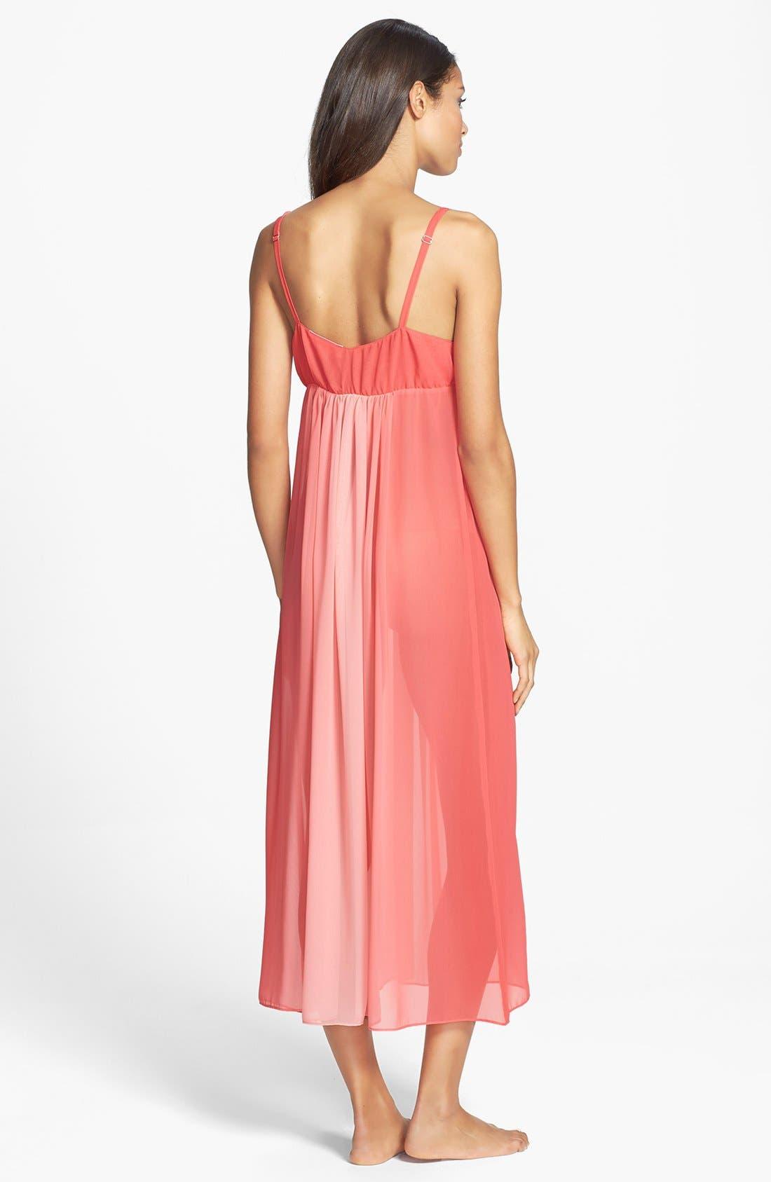Alternate Image 2  - Oscar de la Renta Sleepwear 'Tranquil Sky' Nightgown