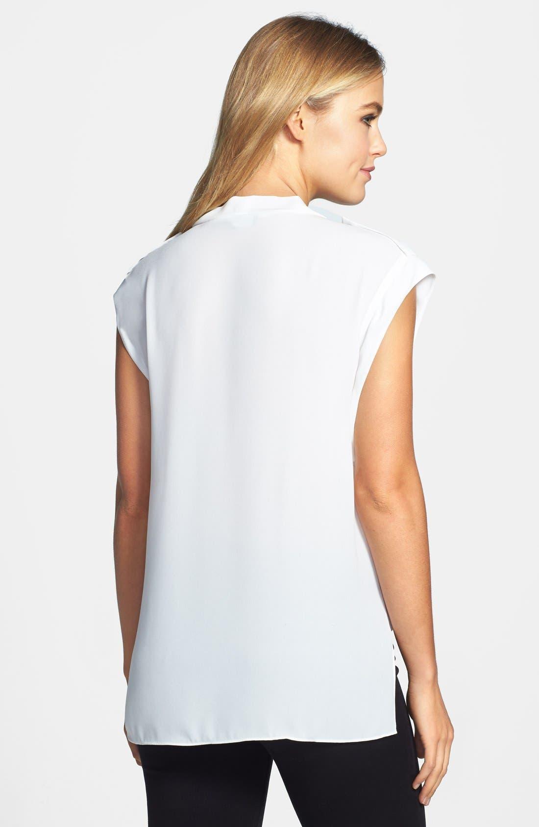 Alternate Image 2  - Vince Camuto Faux Wrap Front Shirttail Blouse