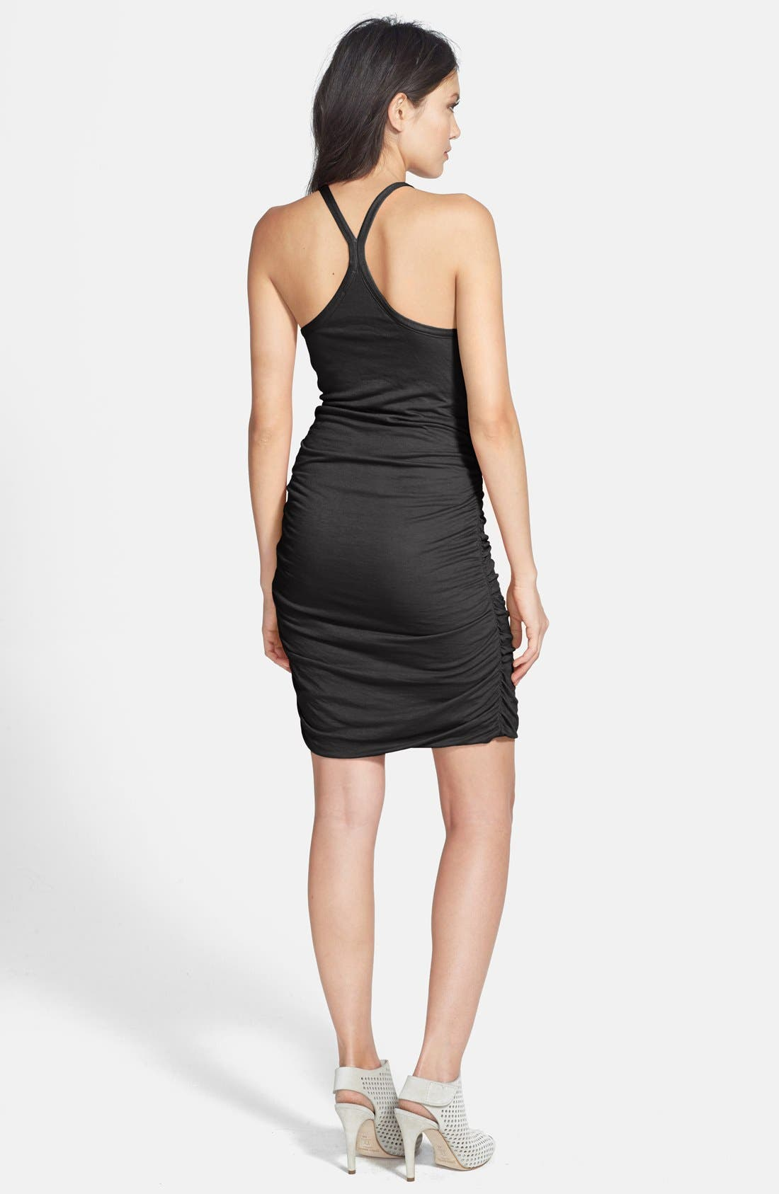 Alternate Image 2  - Splendid Ruched Racerback Minidress