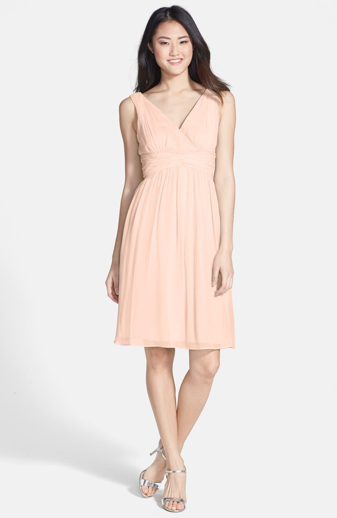 Alternate Image 1 Selected - Donna Morgan 'Jessie' Twist Waist Chiffon Dress