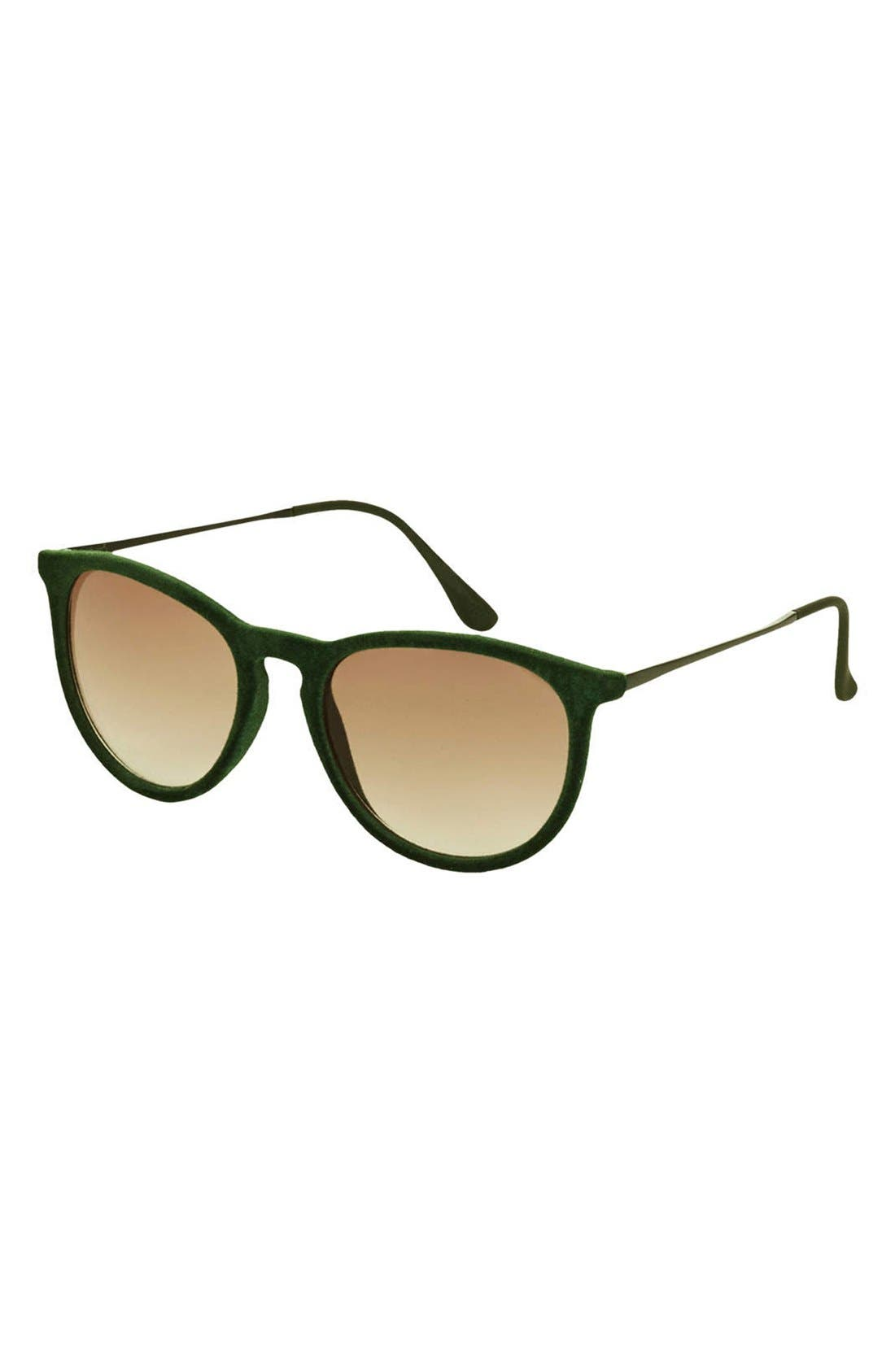 Main Image - Topshop 'Revo' 53mm Velour Sunglasses