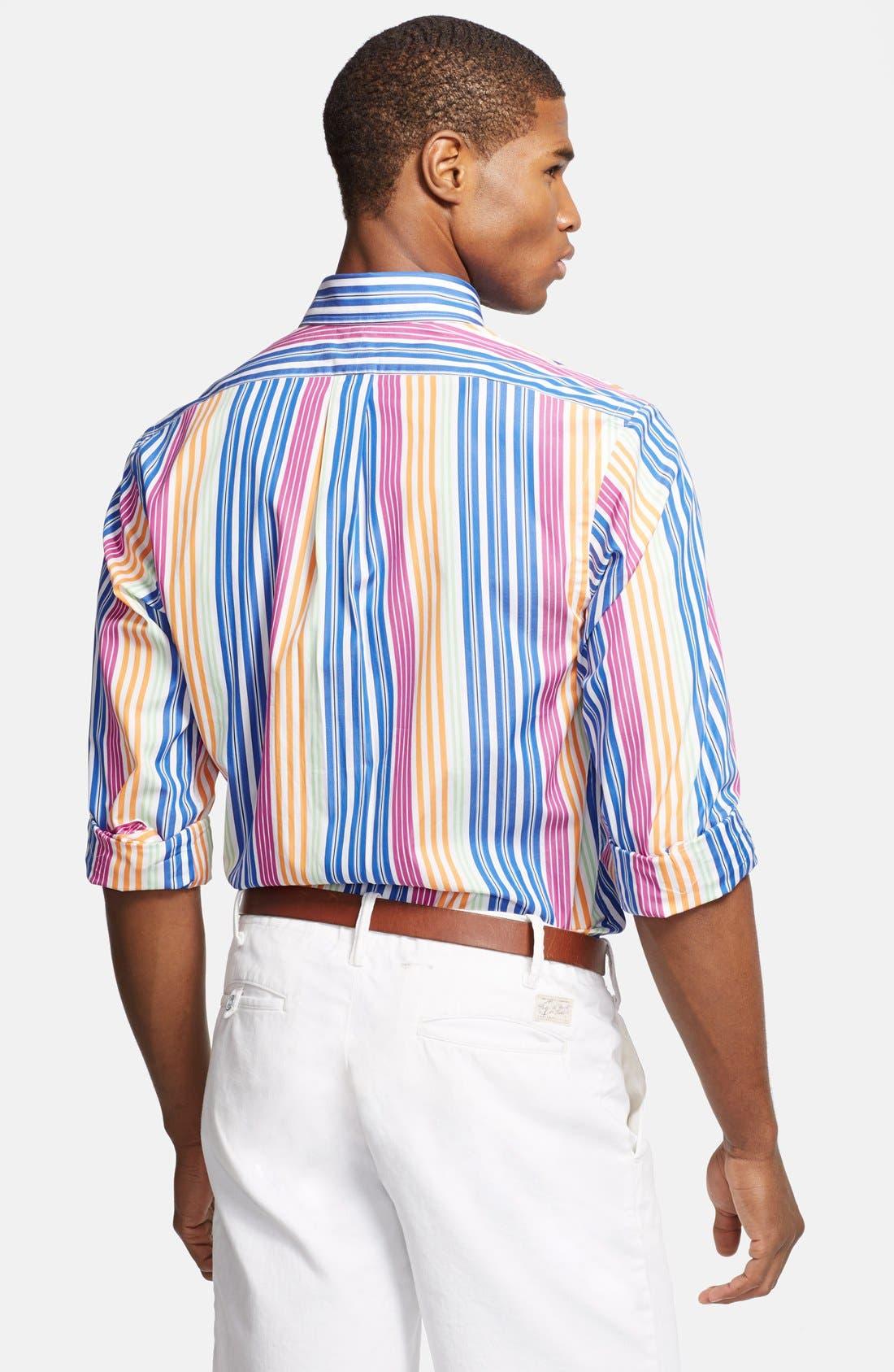 Alternate Image 2  - Polo Ralph Lauren Custom Fit Stripe Sport Shirt