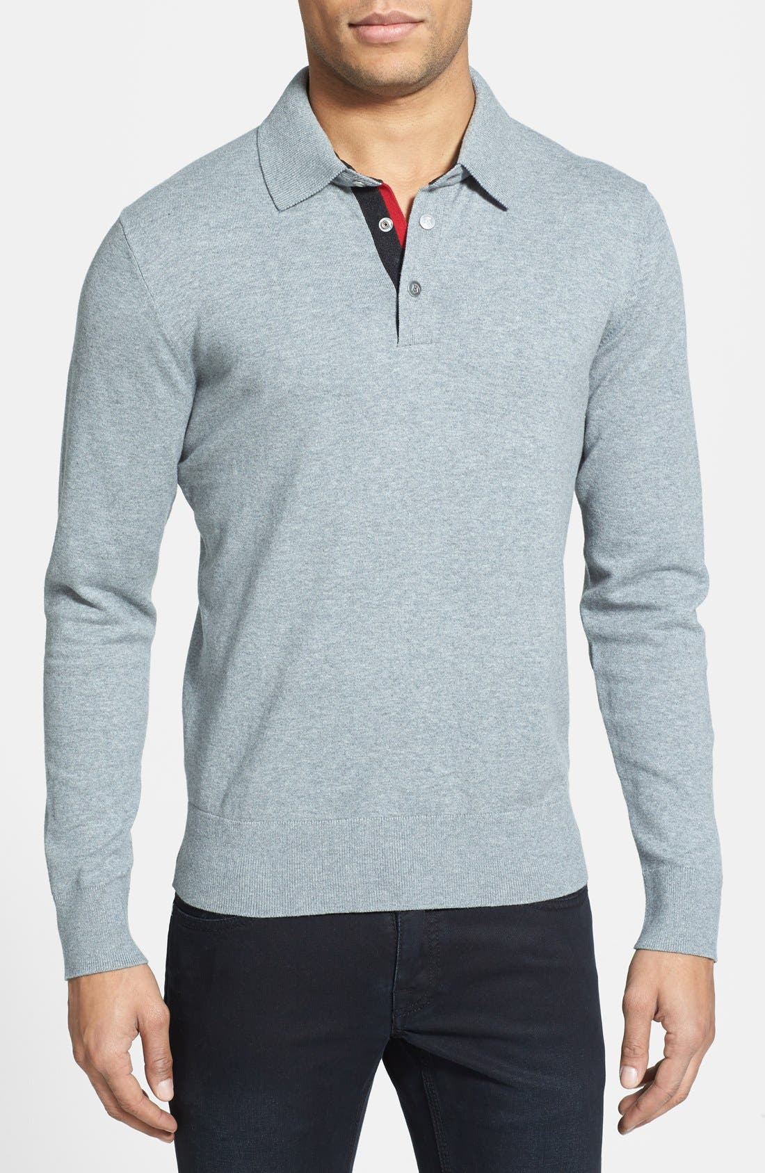 Main Image - Victorinox Swiss Army® 'Roche' Tailored Fit Stretch Polo Sweater