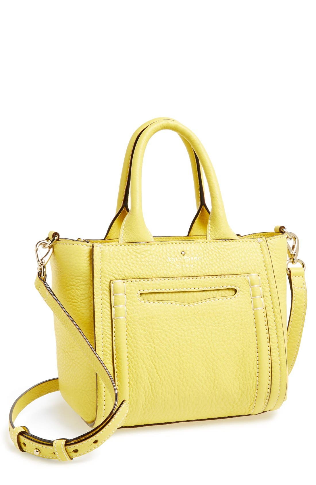 Main Image - kate spade new york 'small claremont drive marcella' leather crossbody satchel