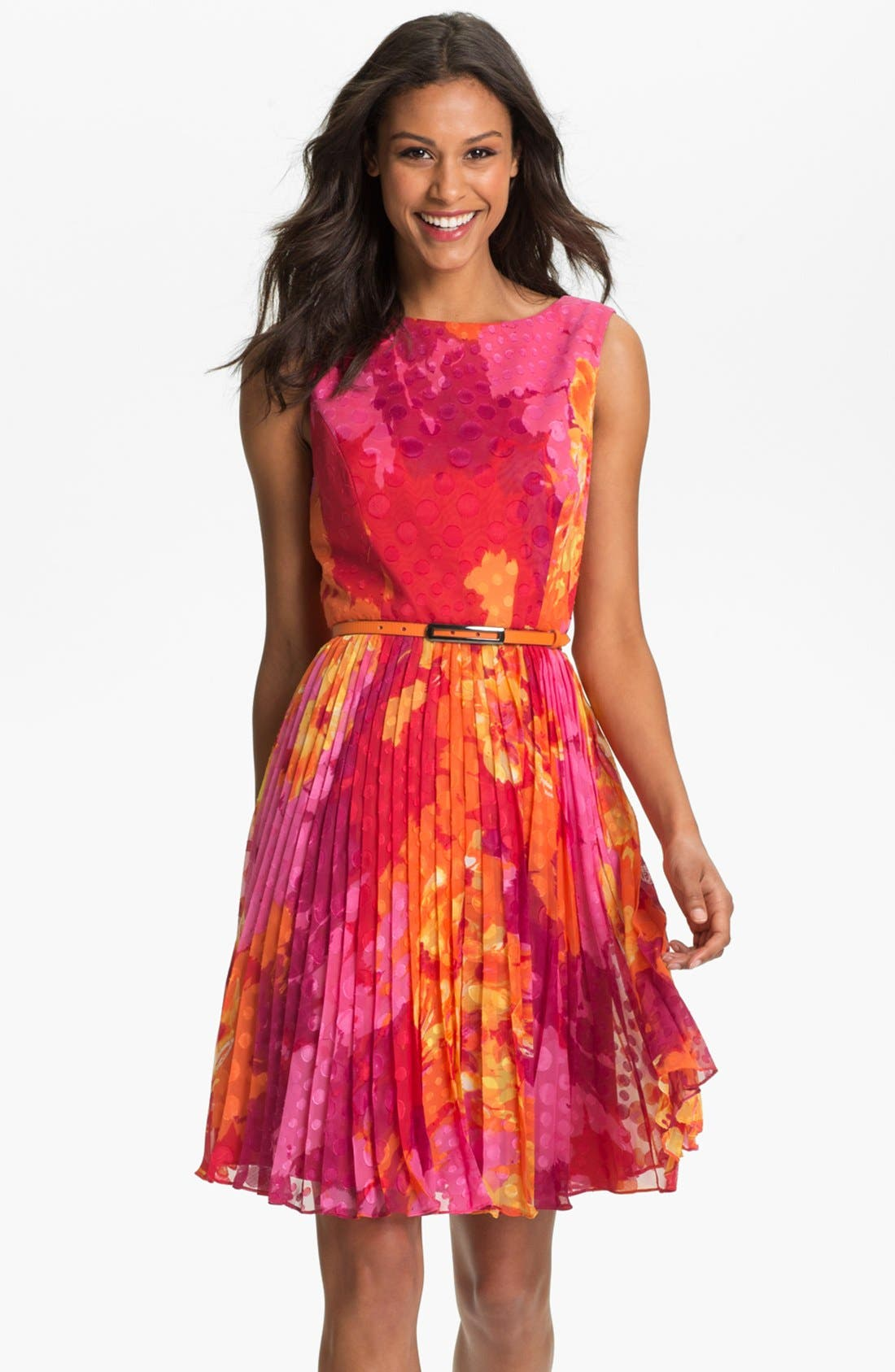 Alternate Image 1 Selected - Adrianna Papell Print Fit & Flare Dress