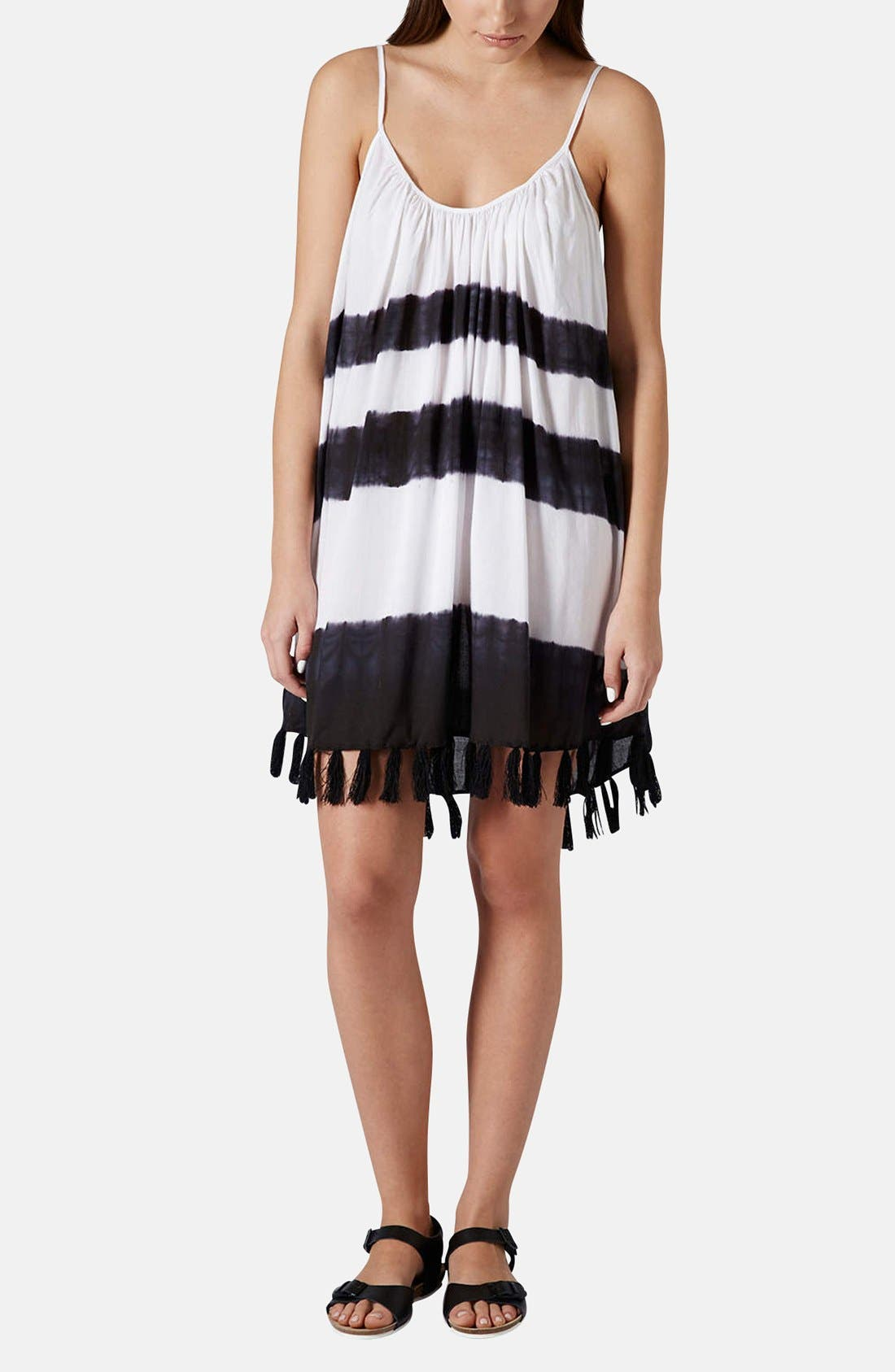 Alternate Image 5  - Topshop Tassel Hem Tie Dye Cover-Up