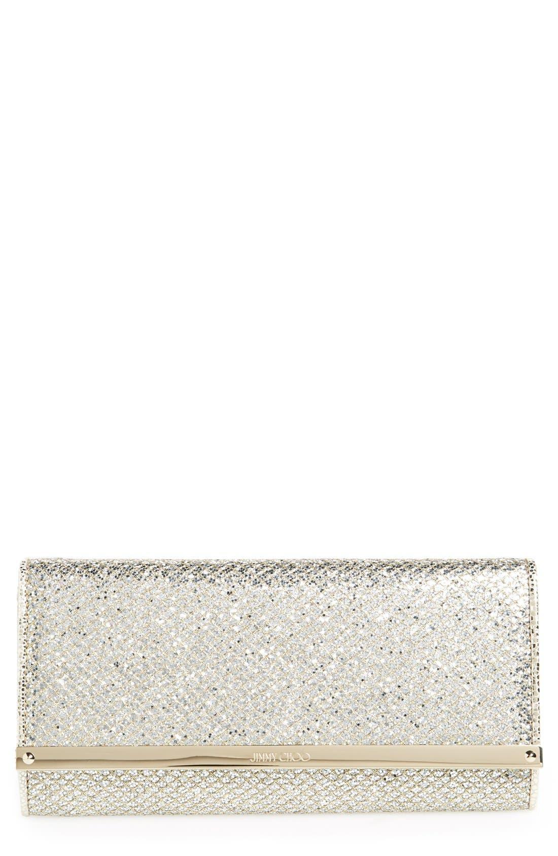 Main Image - Jimmy Choo 'Milla' Glitter Wallet on a Chain