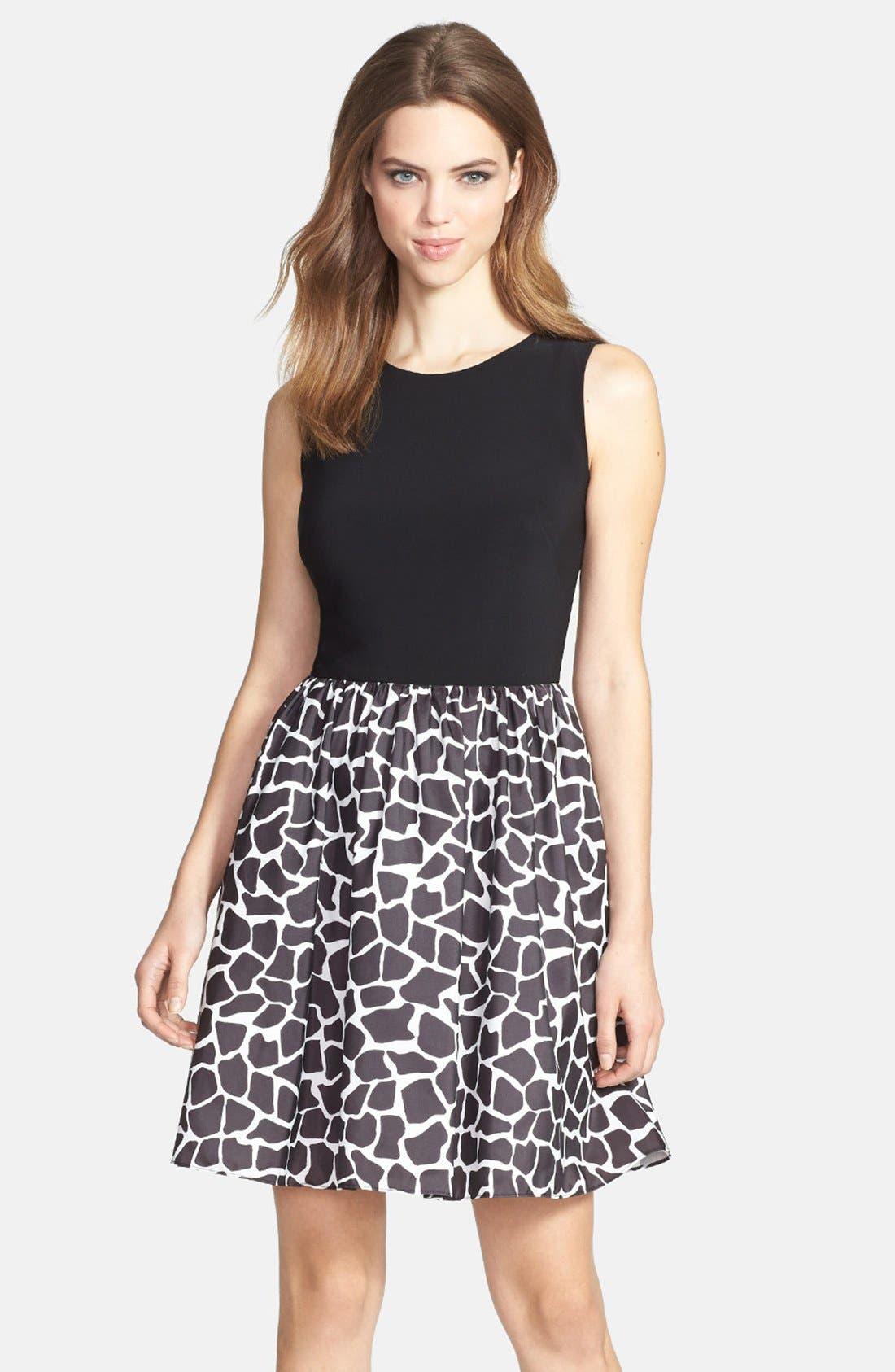 Main Image - Aidan Mattox Sleeveless Taffeta Fit & Flare Dress