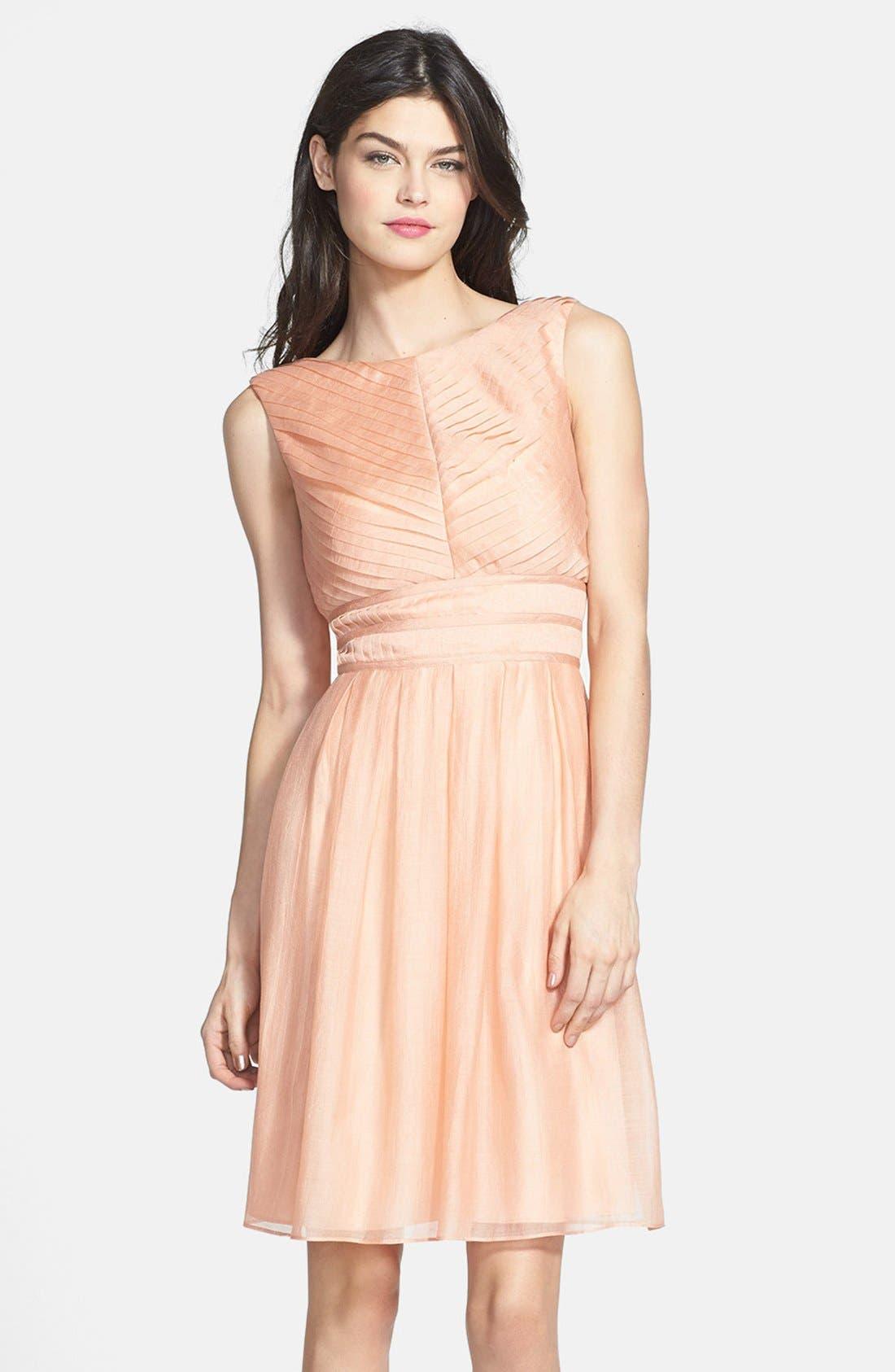 Alternate Image 1 Selected - Ivy & Blu Crinkled Pleat Fit & Flare Dress