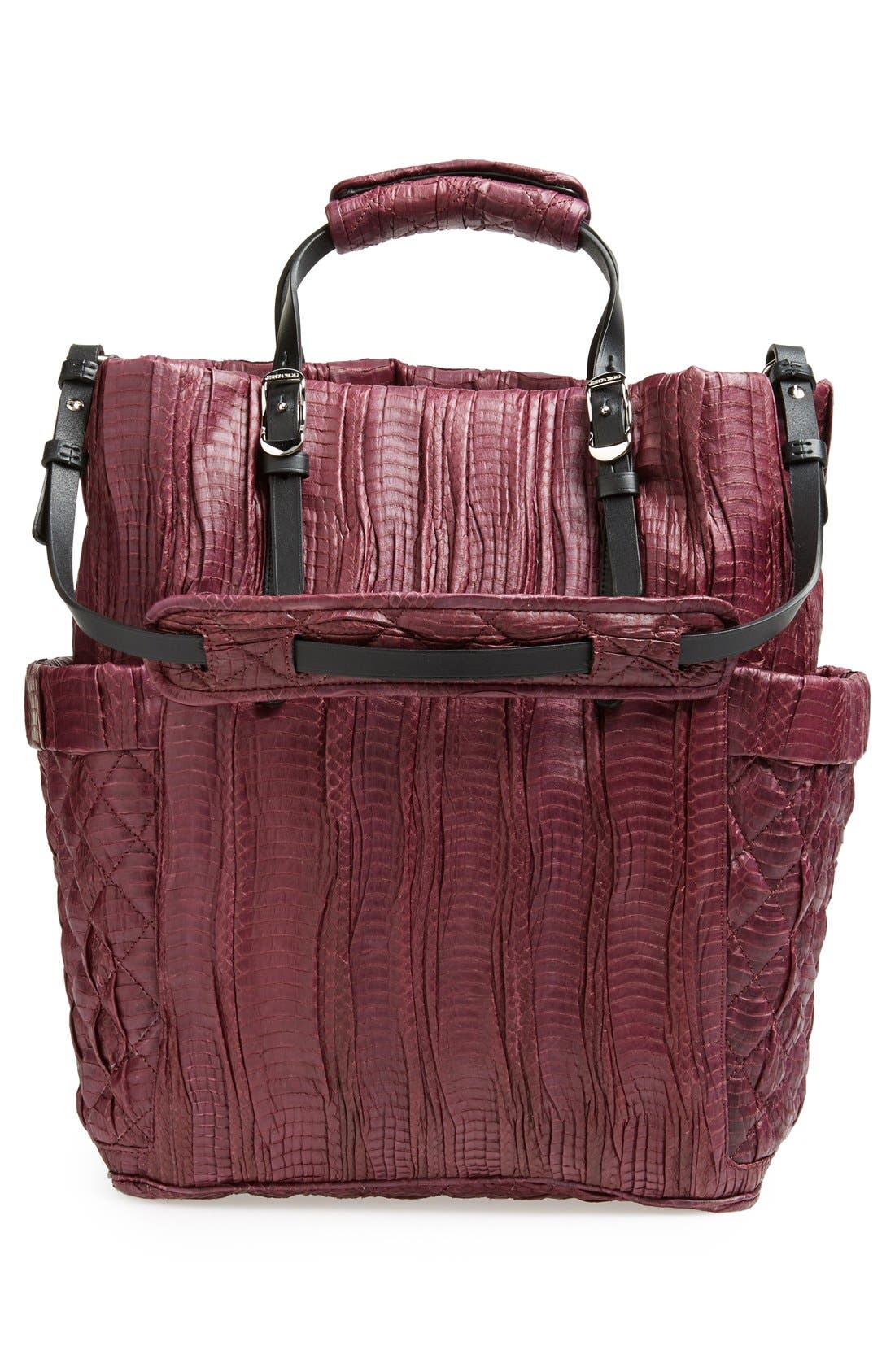Alternate Image 4  - Jimmy Choo 'Blare' Genuine Snakeskin Tote