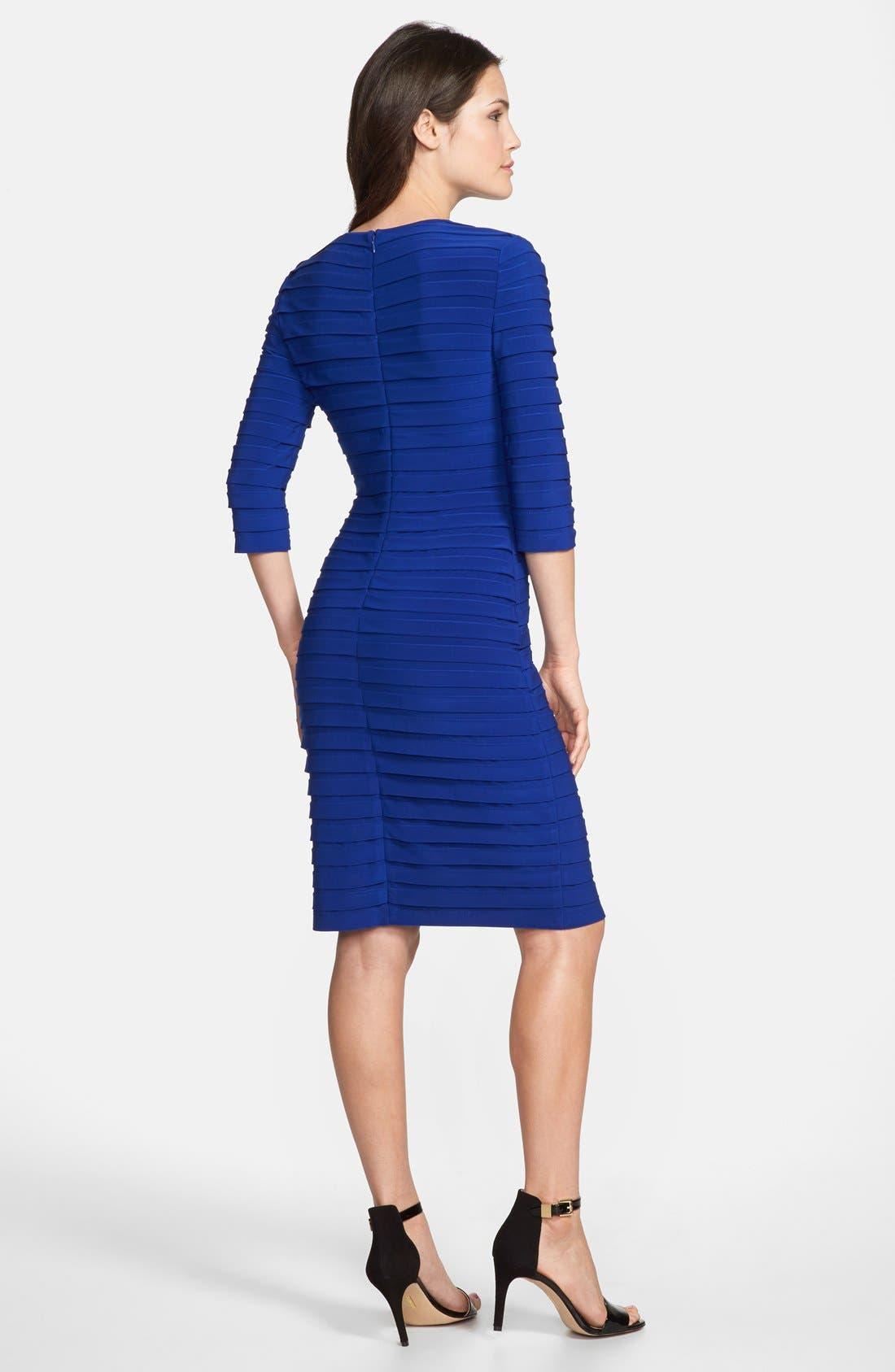 Alternate Image 2  - Adrianna Papell Pleated Jersey Sheath Dress