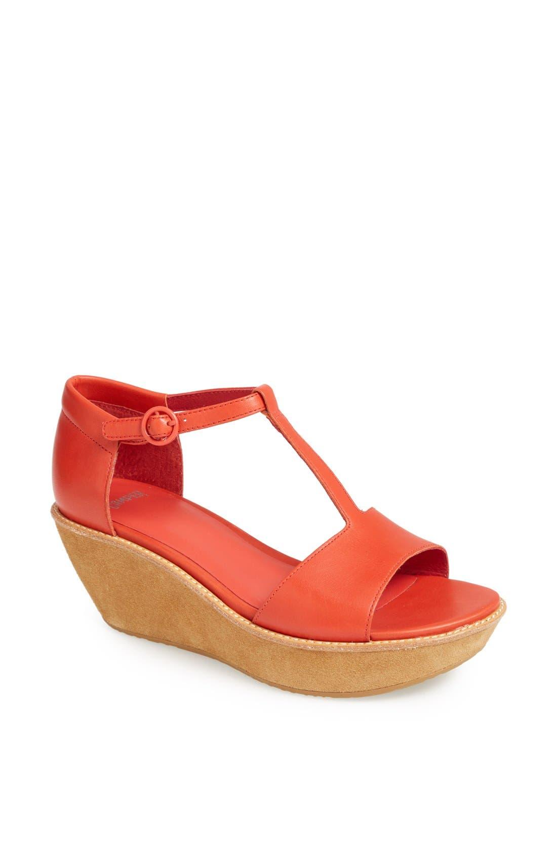 Alternate Image 1 Selected - Camper 'Damas' T-Strap Wedge Sandal