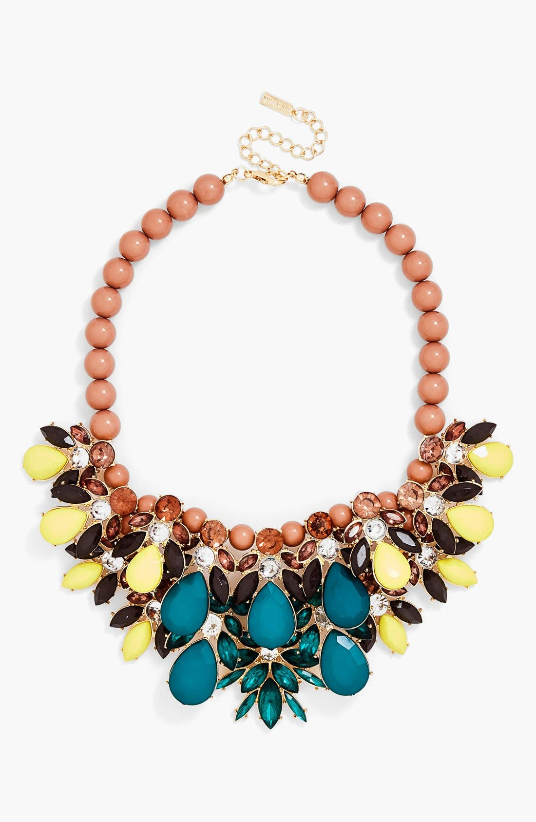 Alternate Image 1 Selected - BaubleBar Layered Stone Bib Necklace (Online Only)