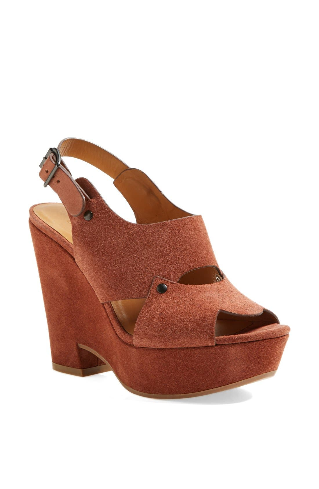 Alternate Image 1 Selected - See by Chloé 'Eva' Cutout Slingback Wedge Sandal
