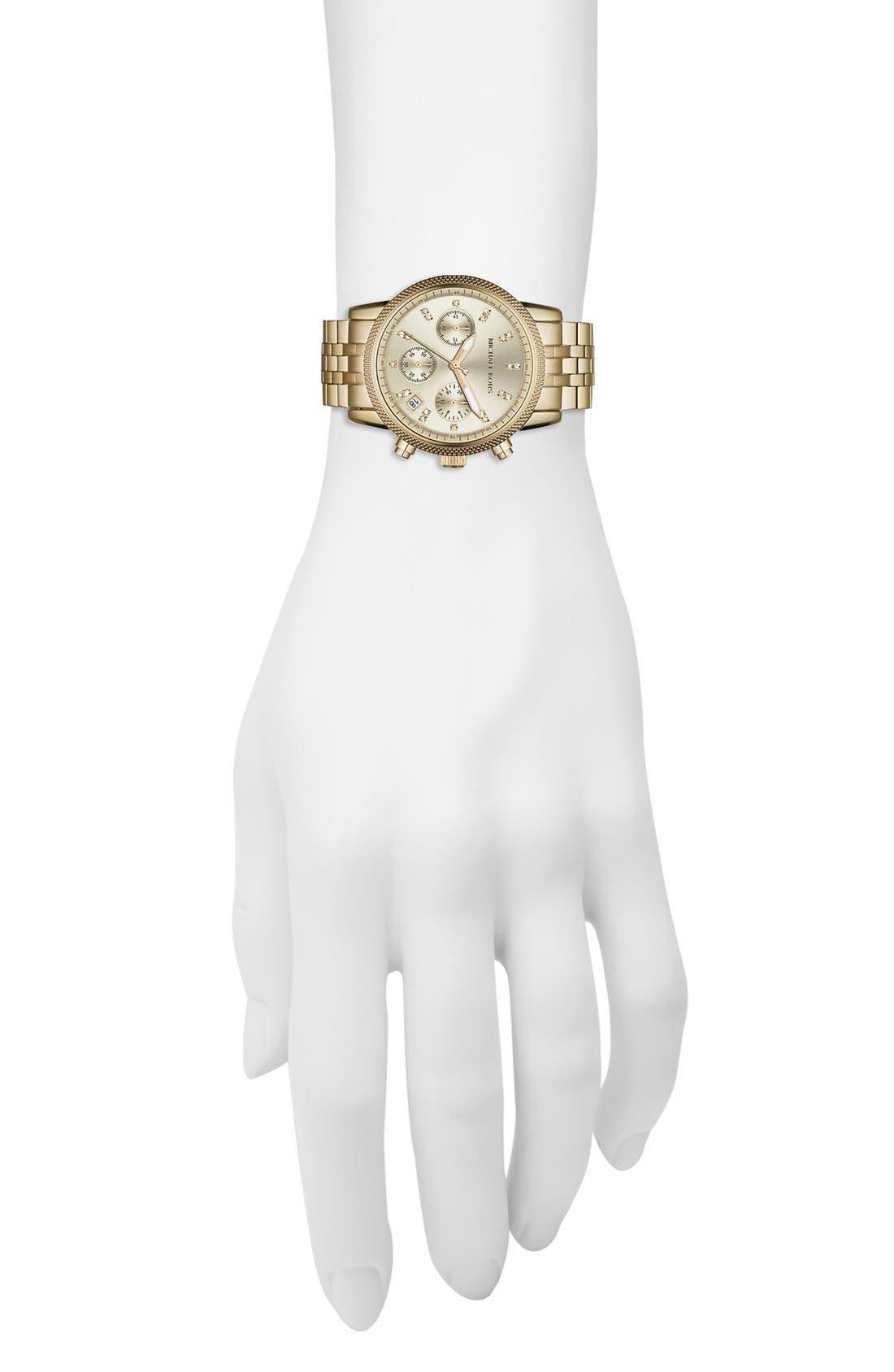 Alternate Image 4  - Michael Kors 'The Ritz' Chronograph Bracelet Watch, 36mm