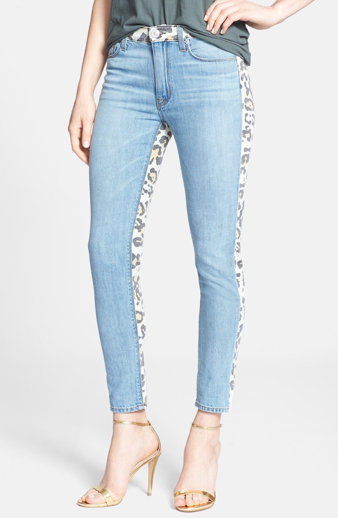 Main Image - Hudson Jeans 'Patti' Print Back Skinny Jeans (Posterior Prey)