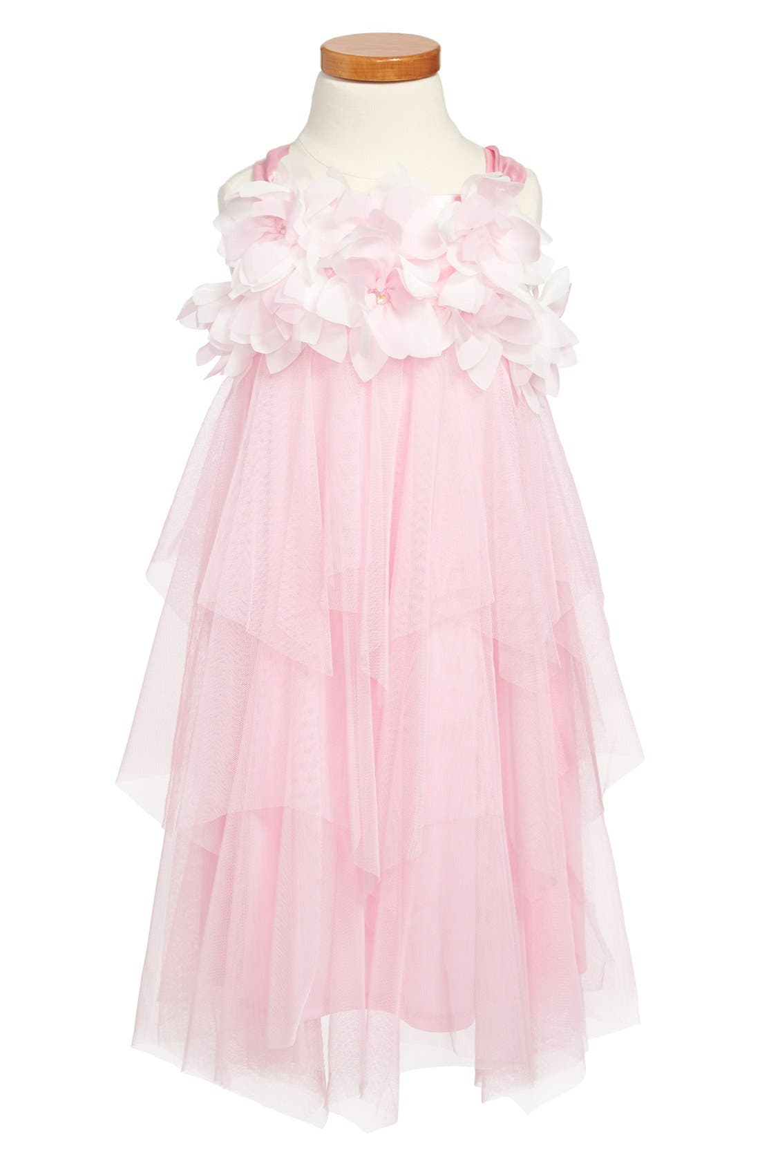 Main Image - Biscotti Floral Tiered Dress (Little Girls & Big Girls)