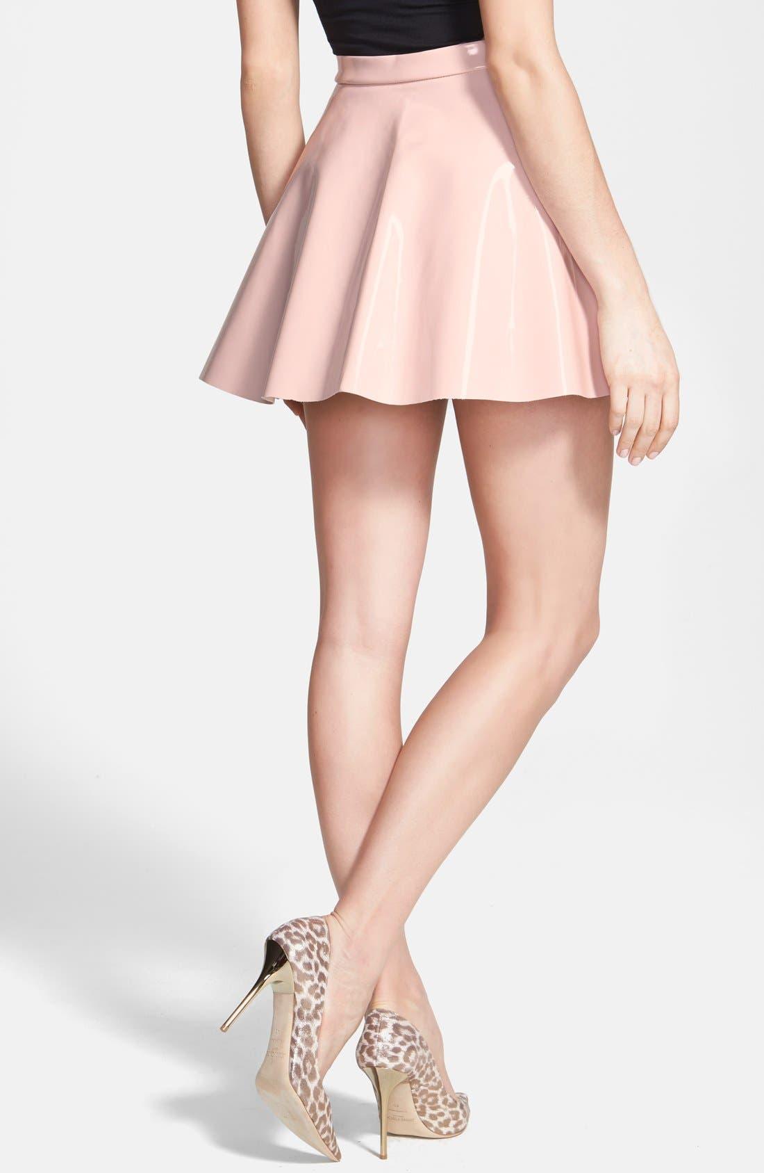 Alternate Image 2  - Glamorous Vinyl Skater Skirt