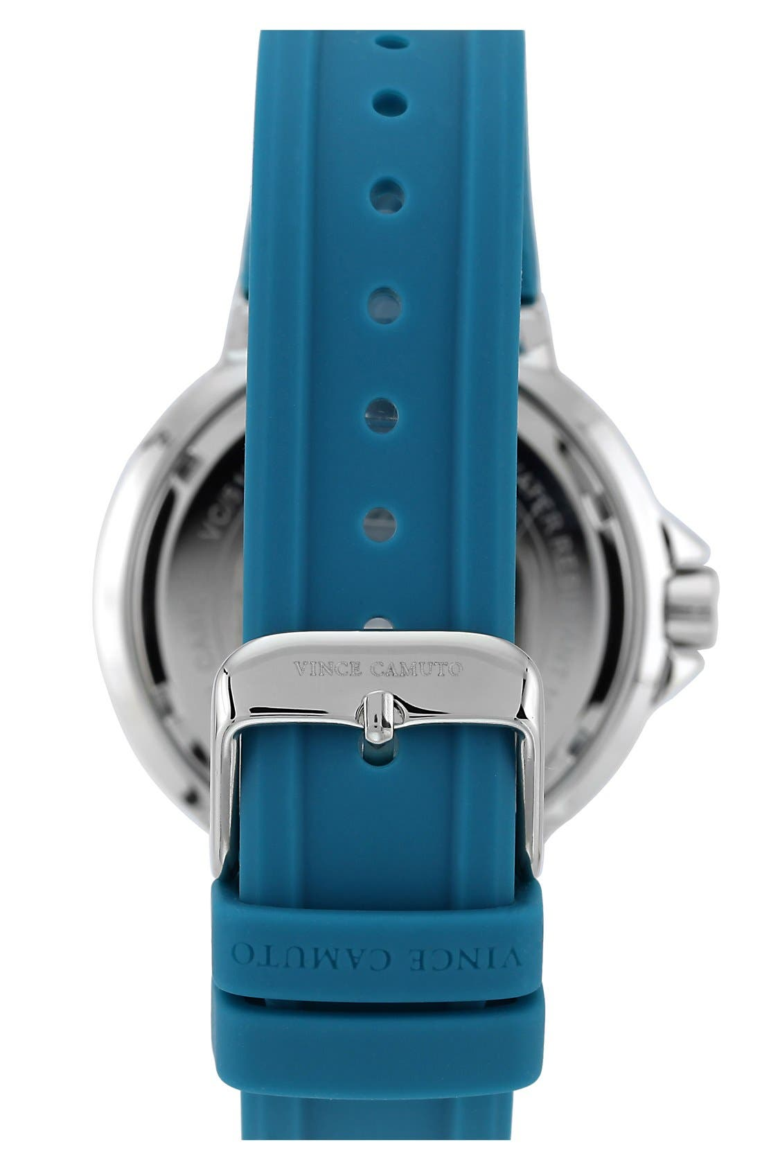 Alternate Image 2  - Vince Camuto Multifunction Silicone Strap Watch, 41mm