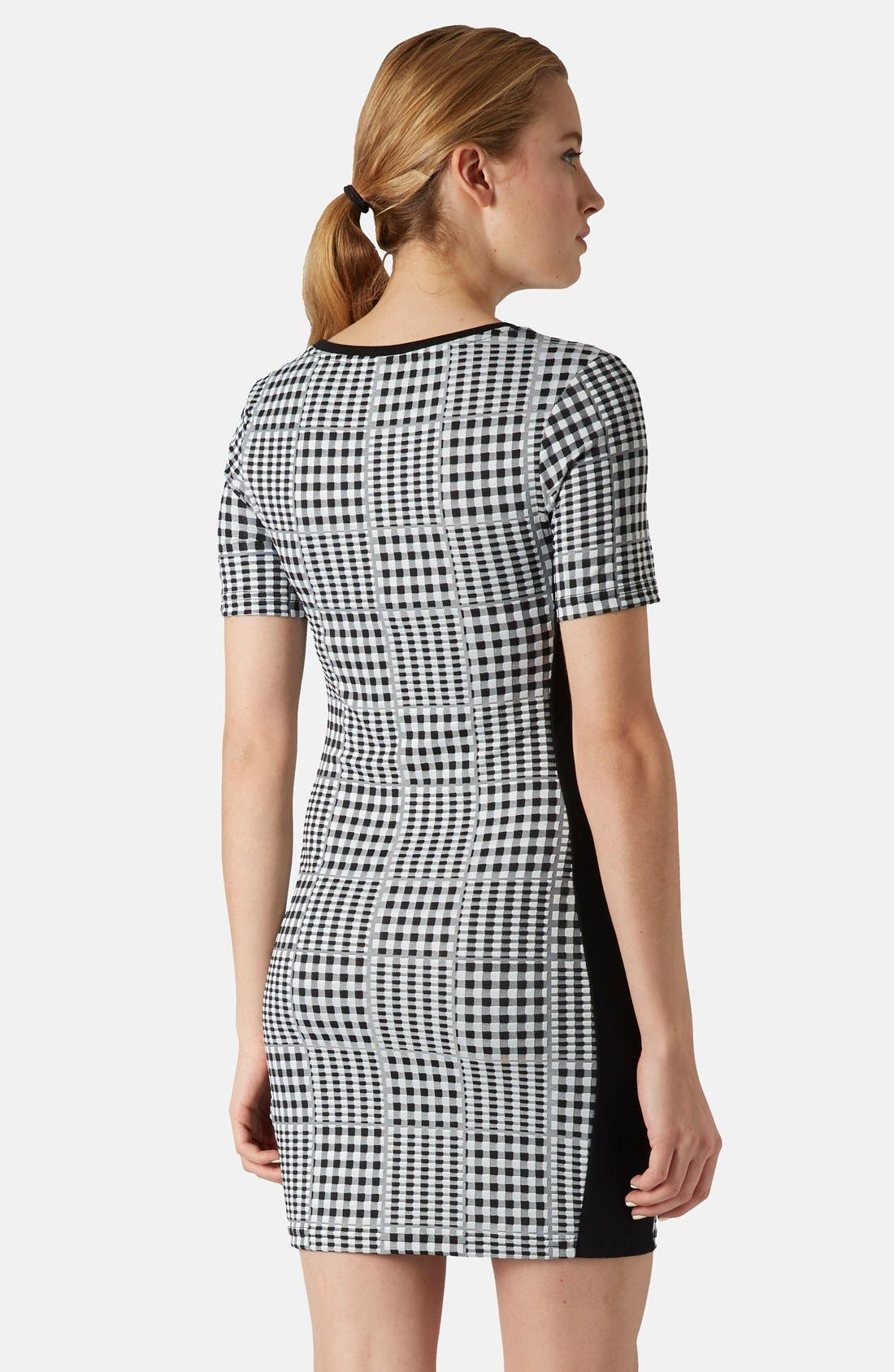 Alternate Image 2  - Topshop Gingham Body-Con Dress