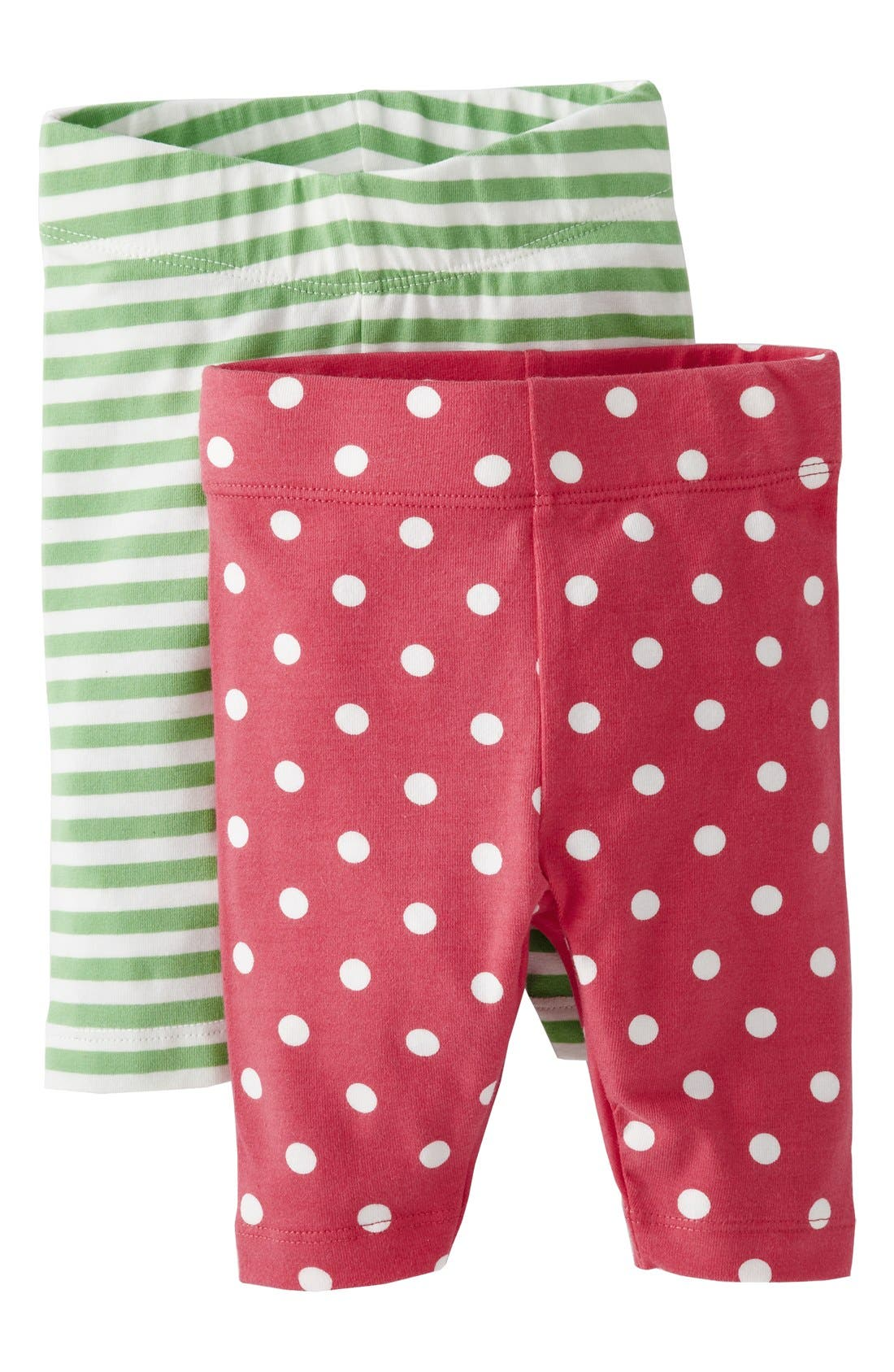Alternate Image 1 Selected - Mini Boden Print Leggings (Baby Girls) (Set of 2)
