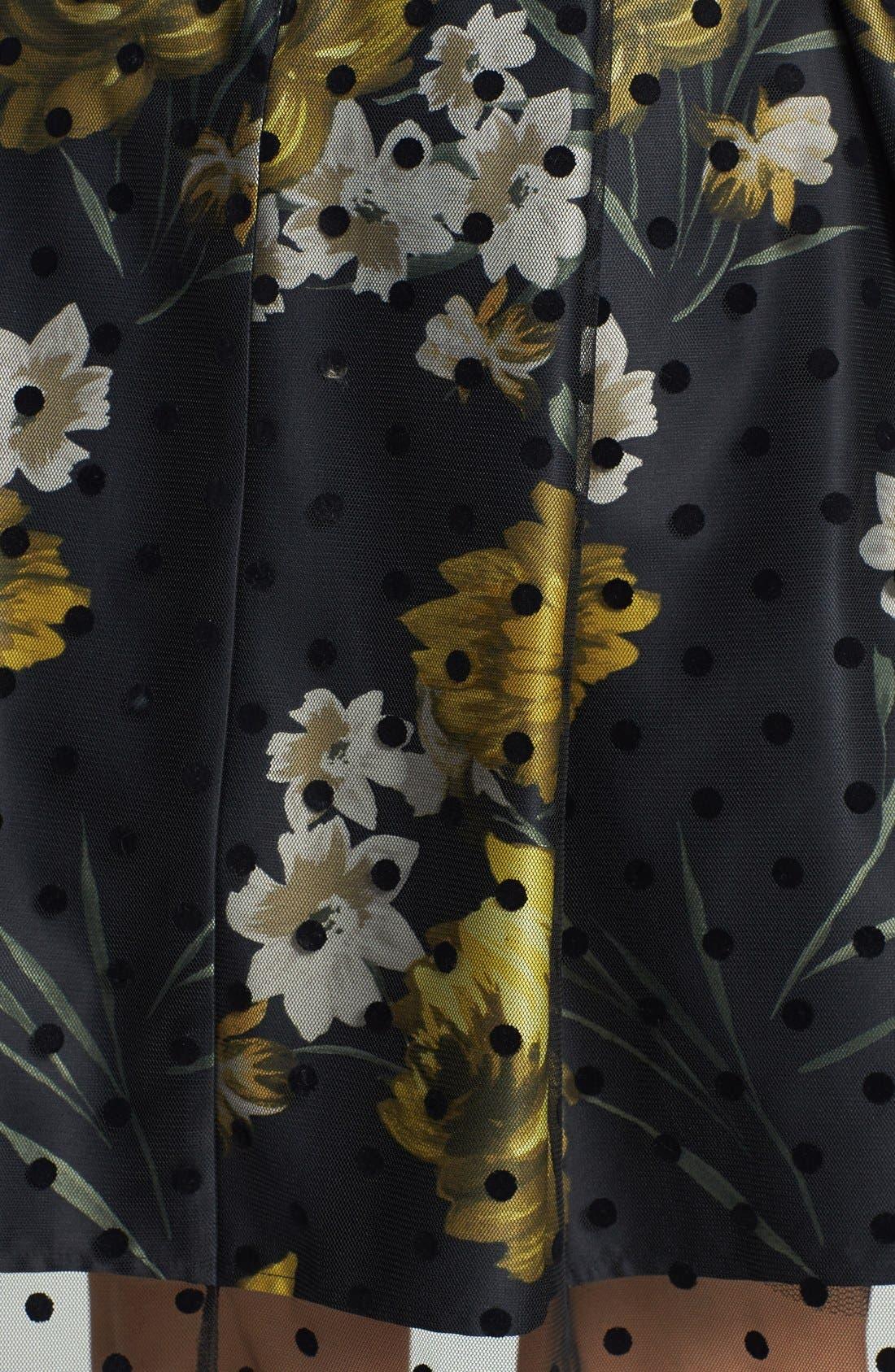 Alternate Image 3  - Eliza J Illusion Dot Print Charmeuse Fit & Flare Dress