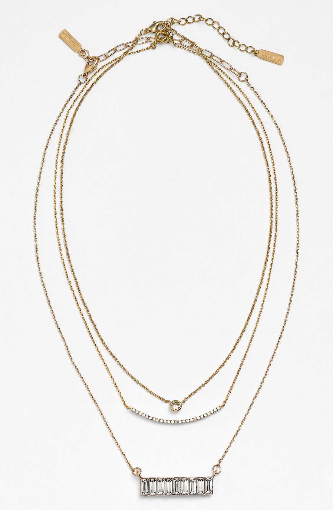 Alternate Image 4  - BaubleBar Round Crystal Pendant Necklace (Online Only)