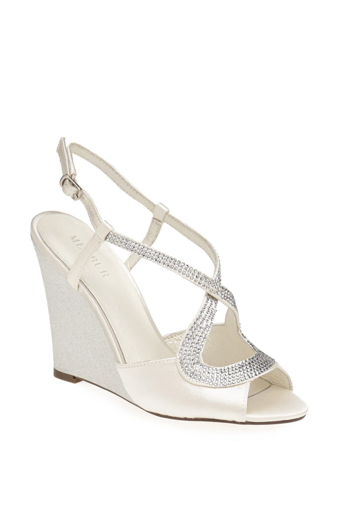 MENBUR 'Tunder' Satin Wedge Sandal