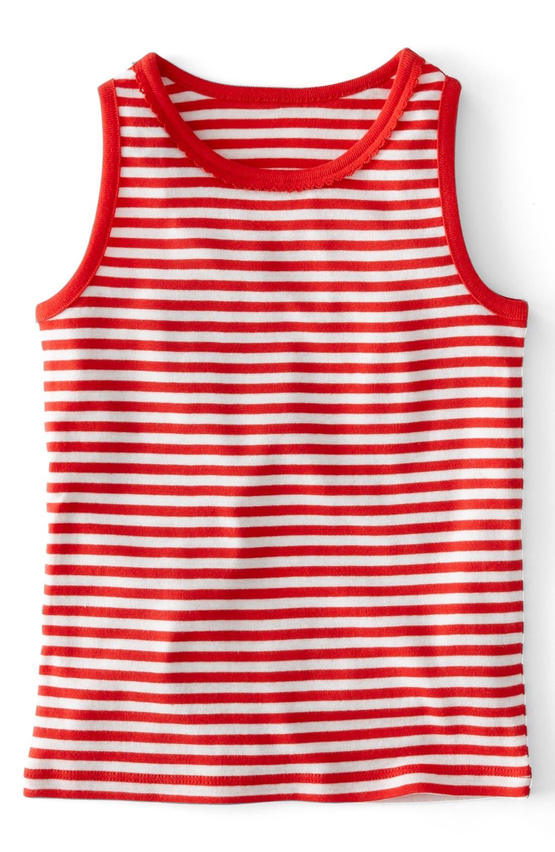 Alternate Image 1 Selected - Mini Boden Stripe Cotton Top (Toddler Girls, Little Girls & Big Girls)