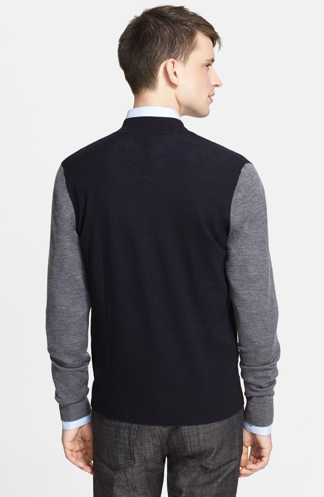 Alternate Image 2  - The Kooples Merino Wool Bomber Cardigan