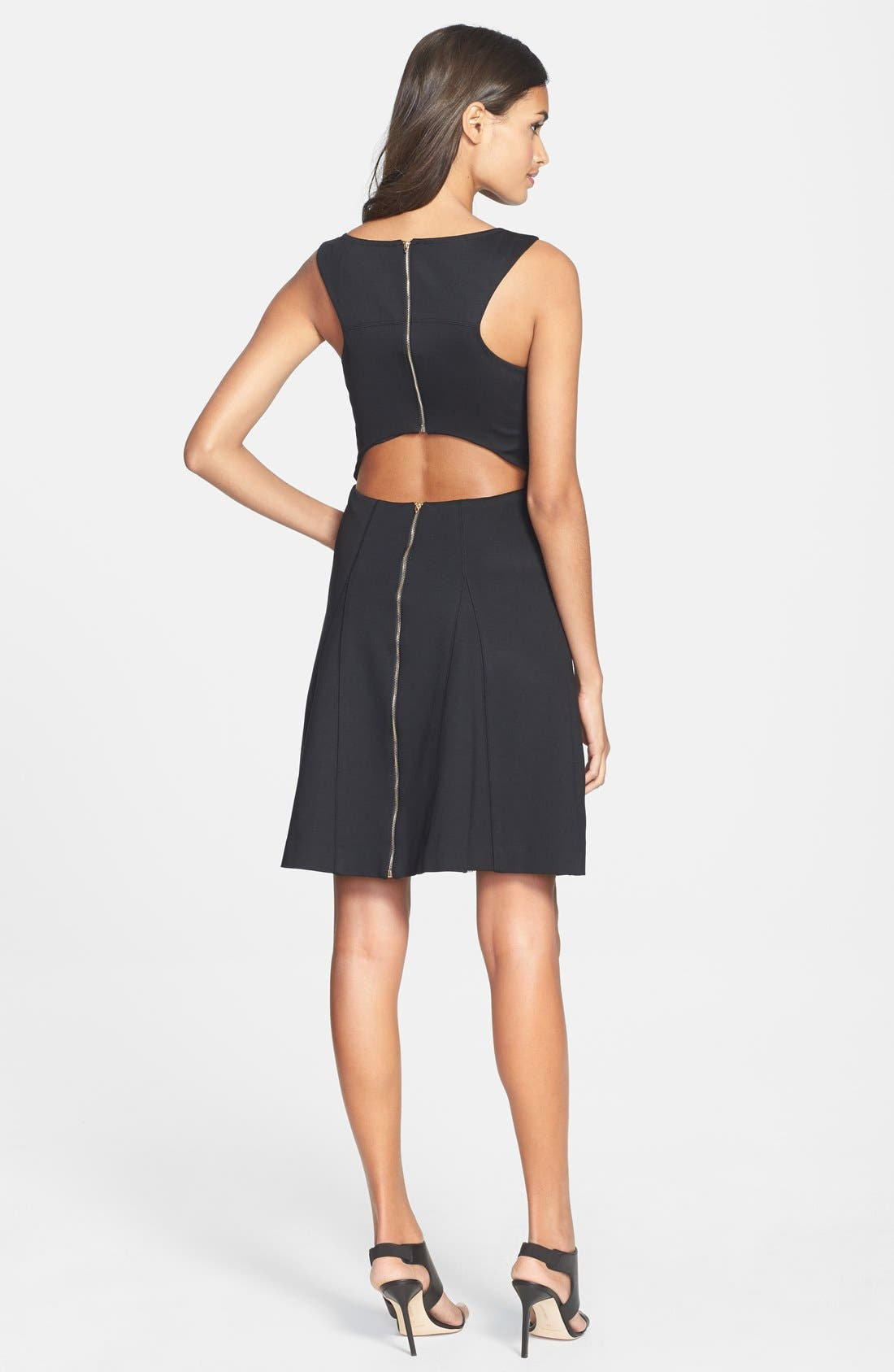 Alternate Image 2  - Trina Turk 'Delphine' Cutout Ponte Knit Fit & Flare Dress