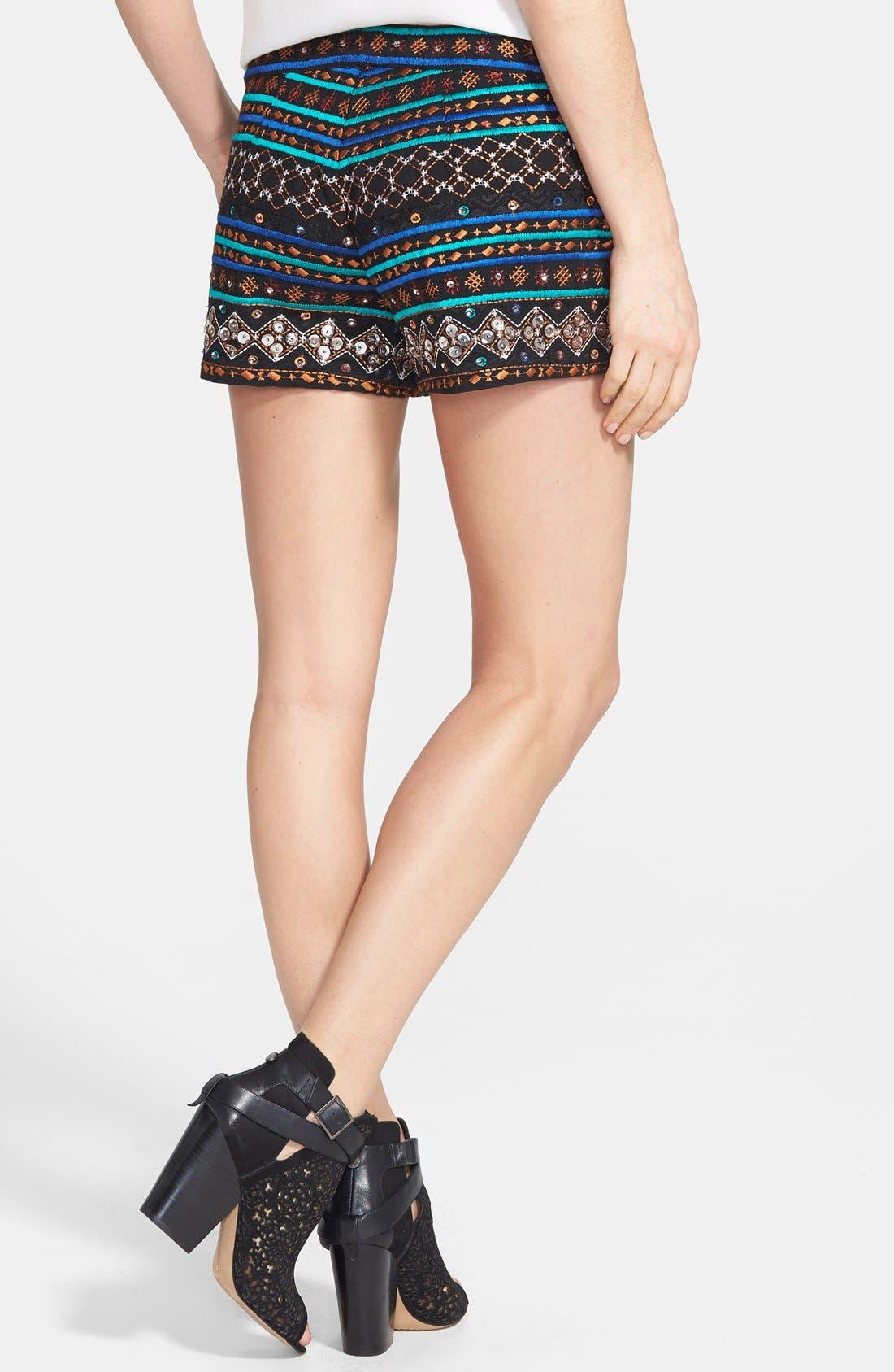 Alternate Image 2  - Lucky Brand Embellished Cotton Shorts