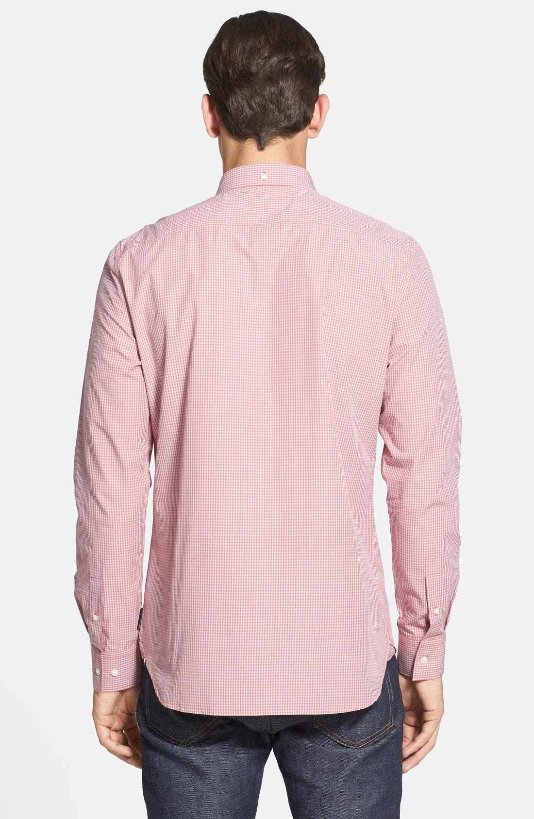 Alternate Image 2  - French Connection Slim Fit Gingham Sport Shirt