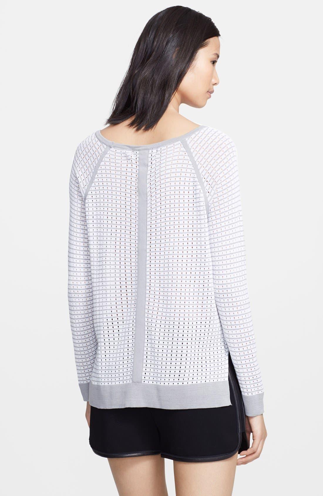 Alternate Image 2  - rag & bone 'Arianna' Raglan Pointelle Sweater