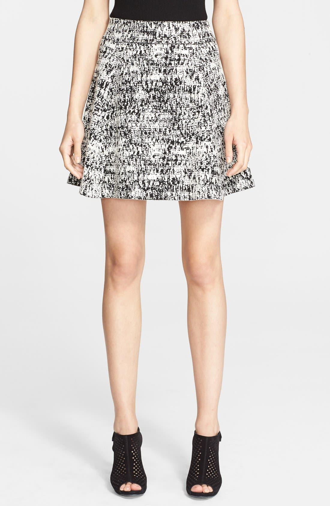 Main Image - Theory 'Doreene Tweedscape' Print Woven Skirt