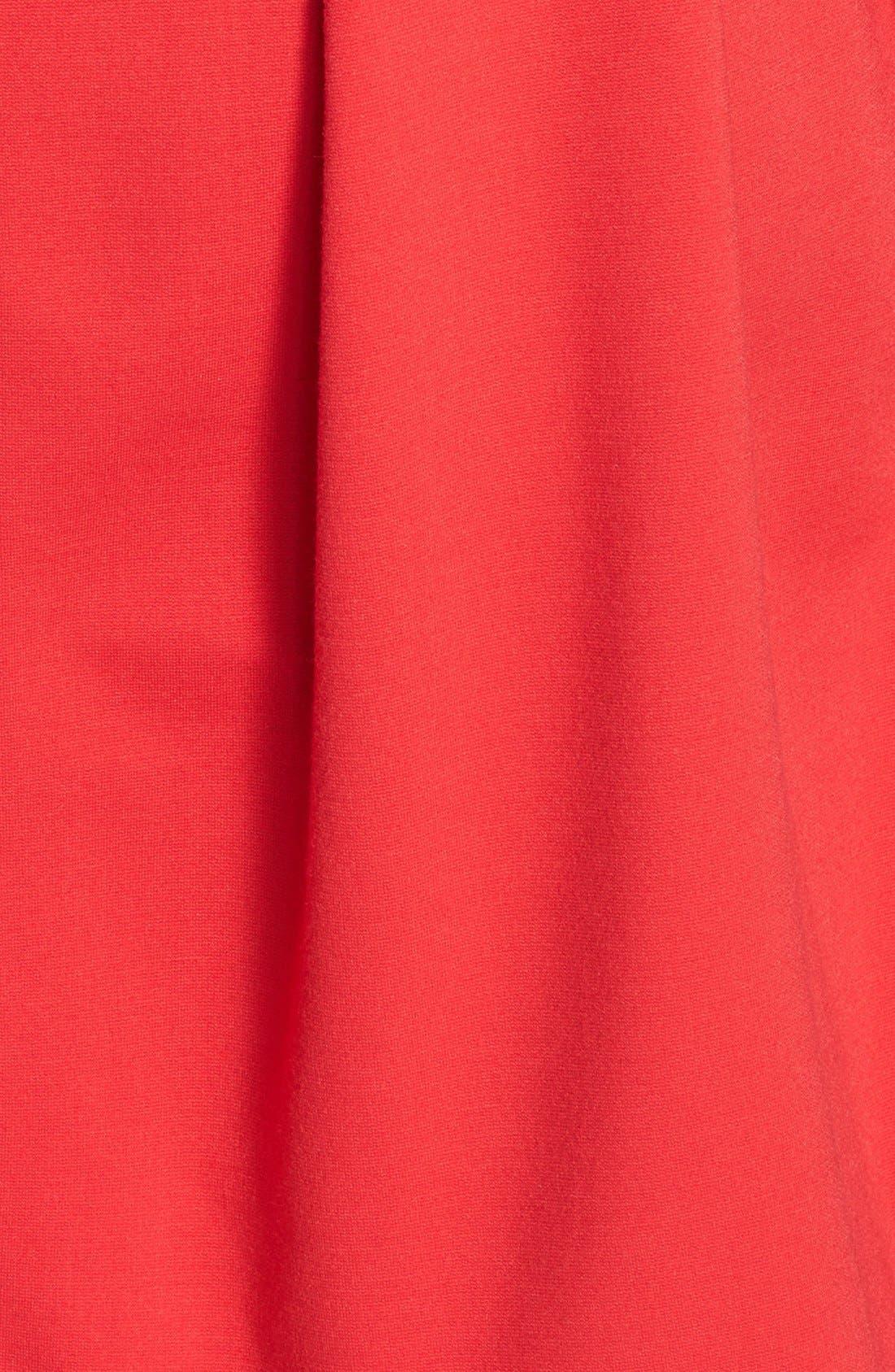 Alternate Image 4  - Eliza J Cutout Back Belted Ponte Knit Fit & Flare Dress