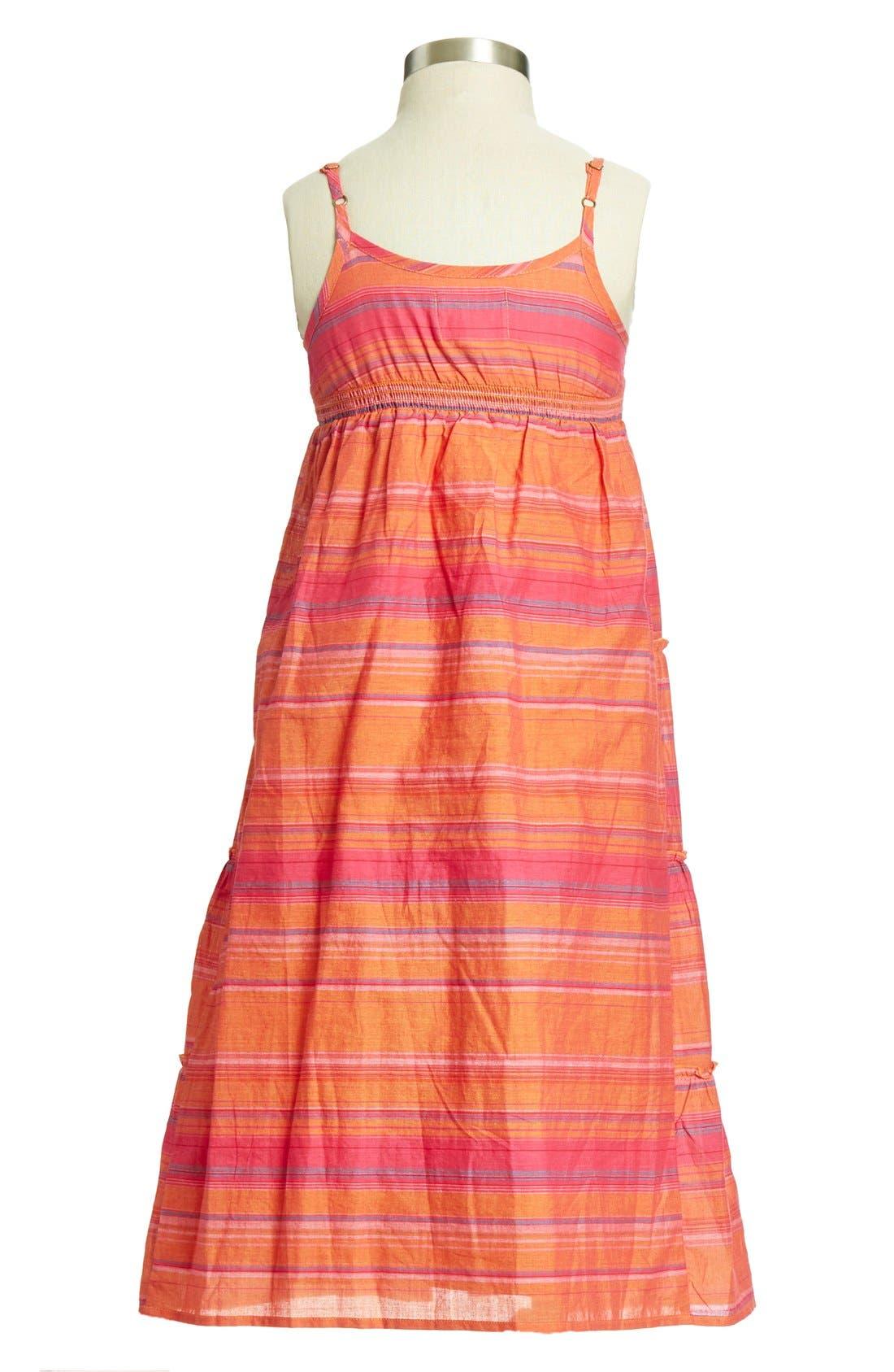 Alternate Image 2  - Peek 'Marigold' Cotton Dress (Toddler Girls, Little Girls & Big Girls)
