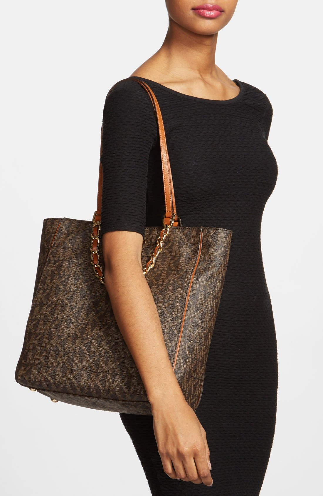 Alternate Image 2  - MICHAEL Michael Kors 'Large North/South' Leather Tote