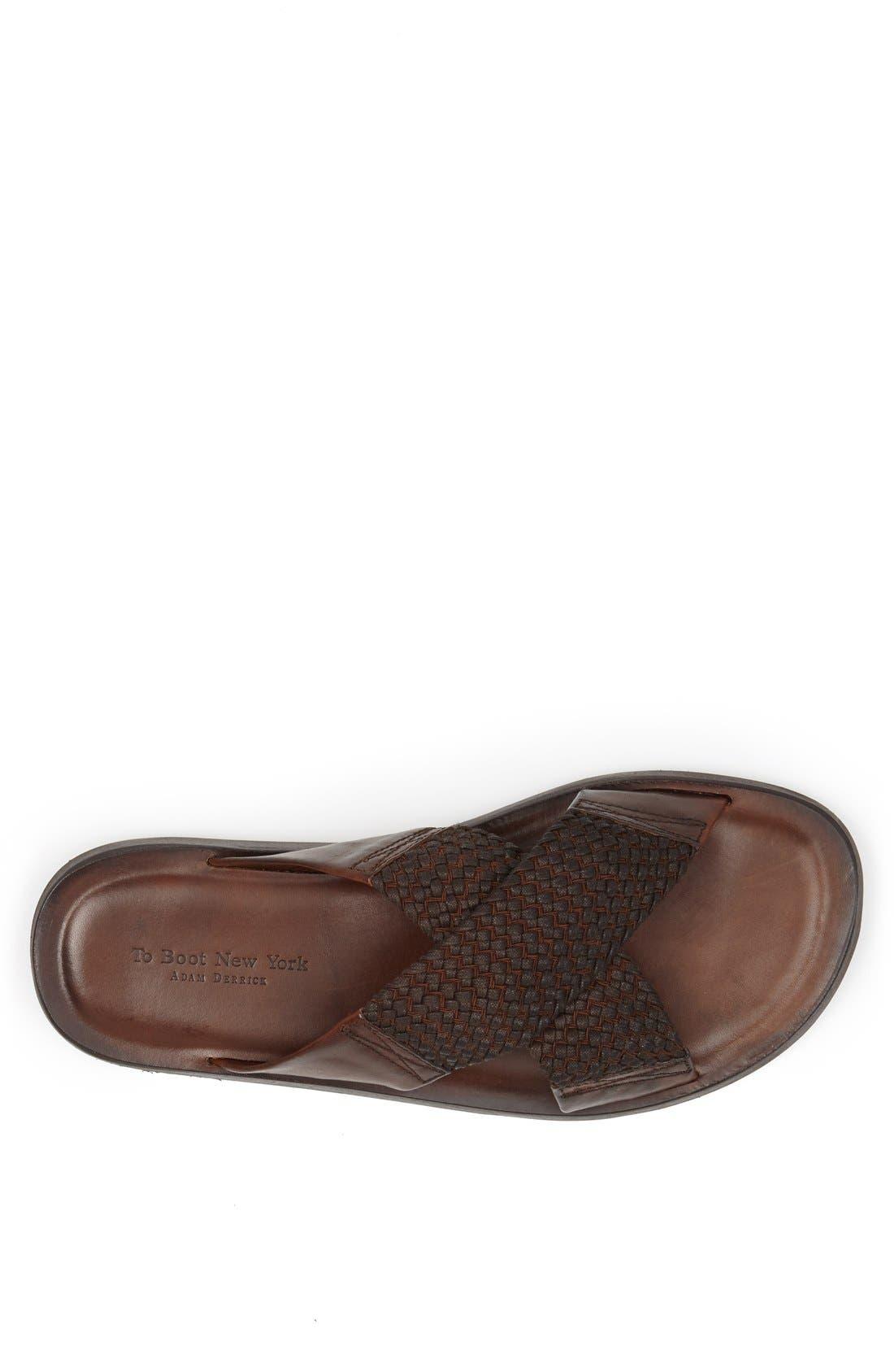 Alternate Image 3  - To Boot New York 'Ibiza' Leather Slide Sandal