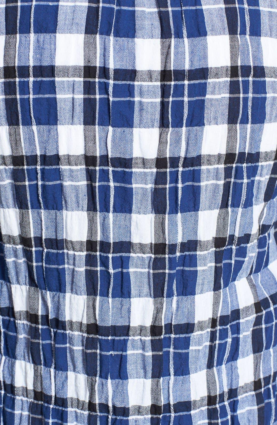 Alternate Image 3  - Sandra Ingrish Plaid Roll Sleeve Cotton Shirt (Regular & Petite)