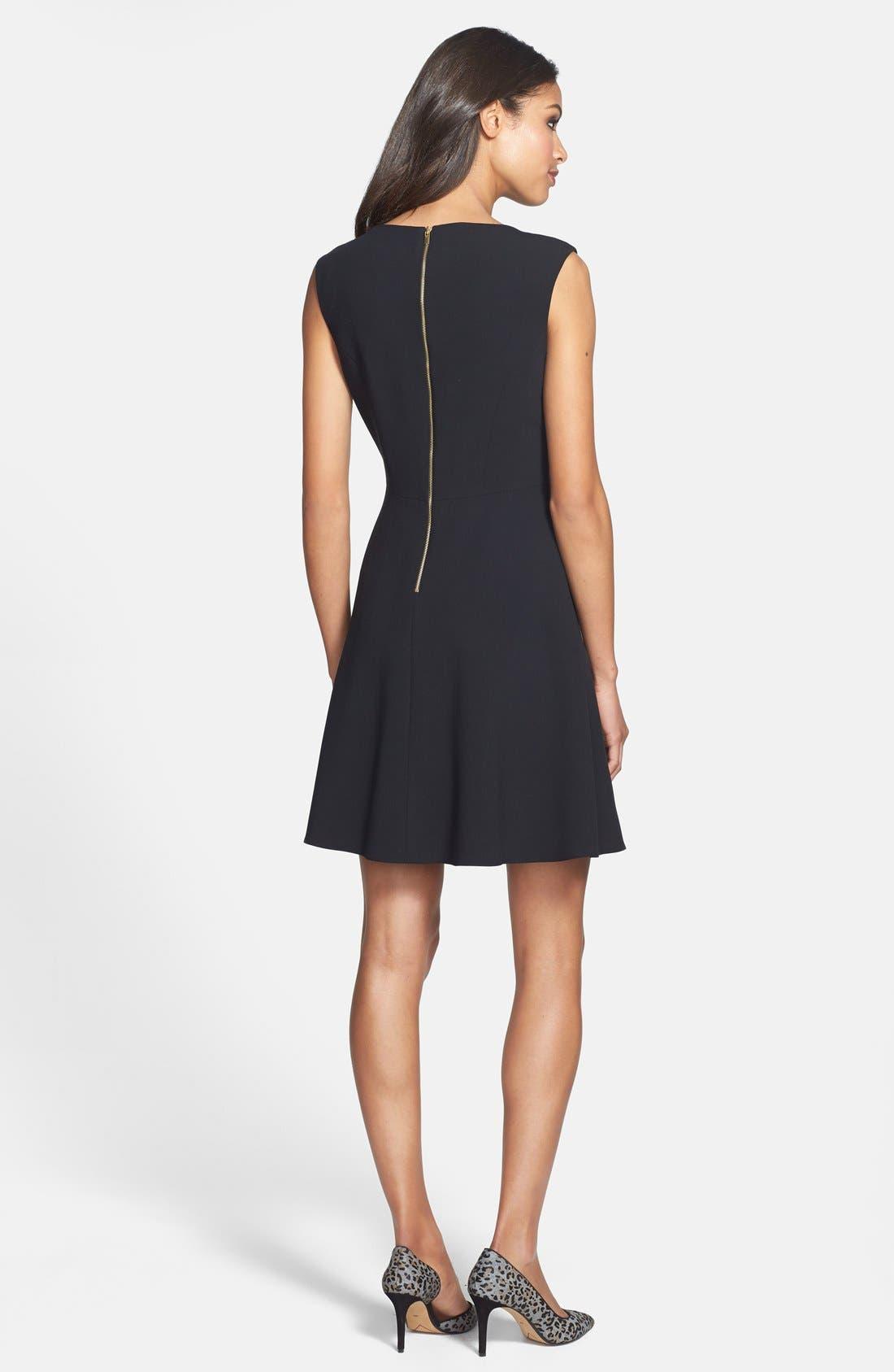 Alternate Image 2  - Tahari Empire Waist Fit & Flare Dress (Petite)
