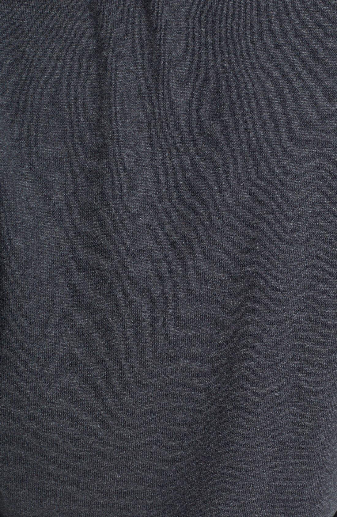 Alternate Image 3  - Halogen® 'Love' Shoulder Zip Intarsia Sweater (Regular & Petite)