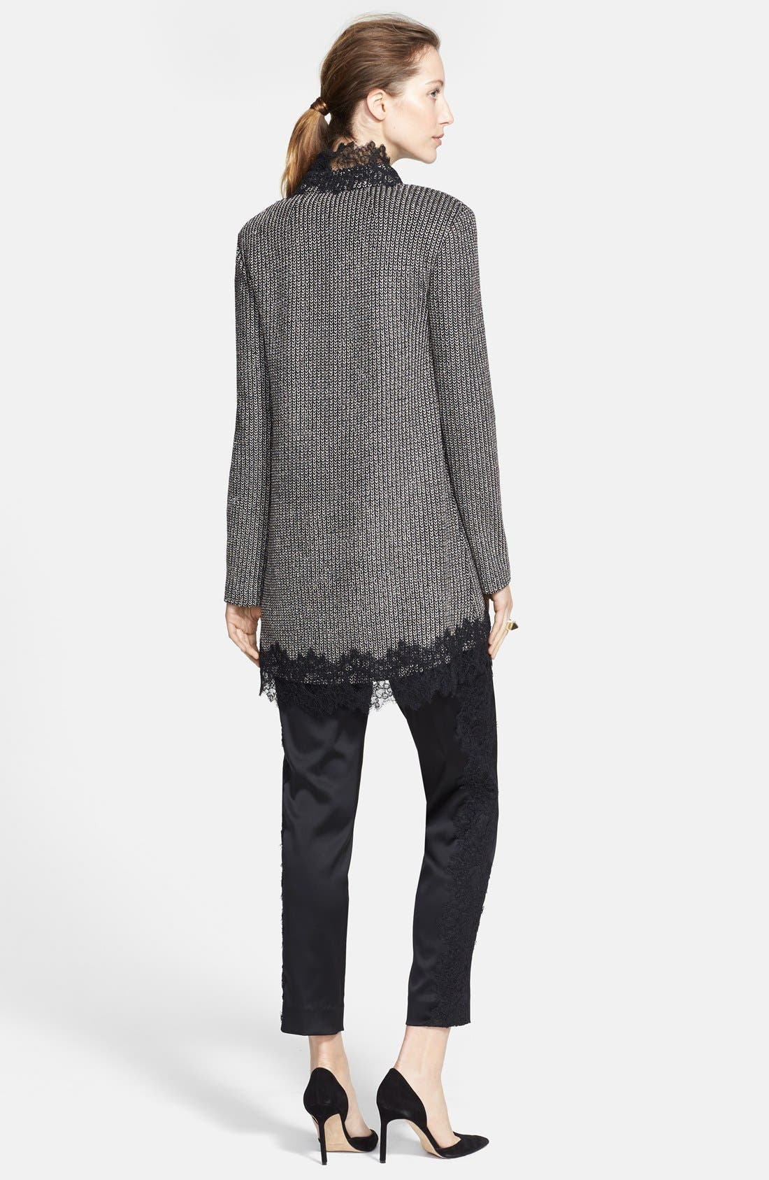 Alternate Image 2  - St. John Collection Lace Trim Metallic Micro Knit Jacket