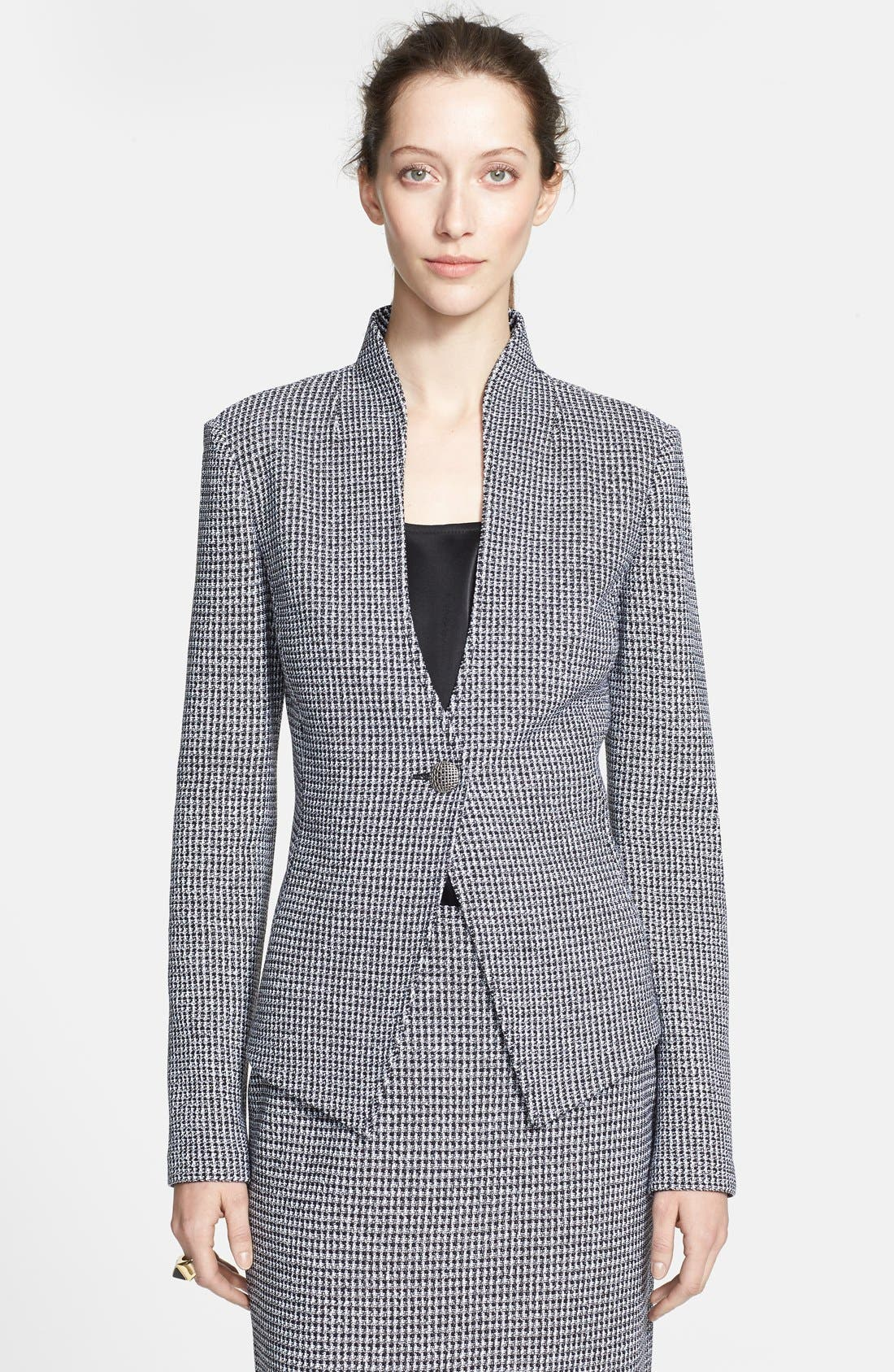 Alternate Image 1 Selected - St. John Collection Microcheck Knit Jacket