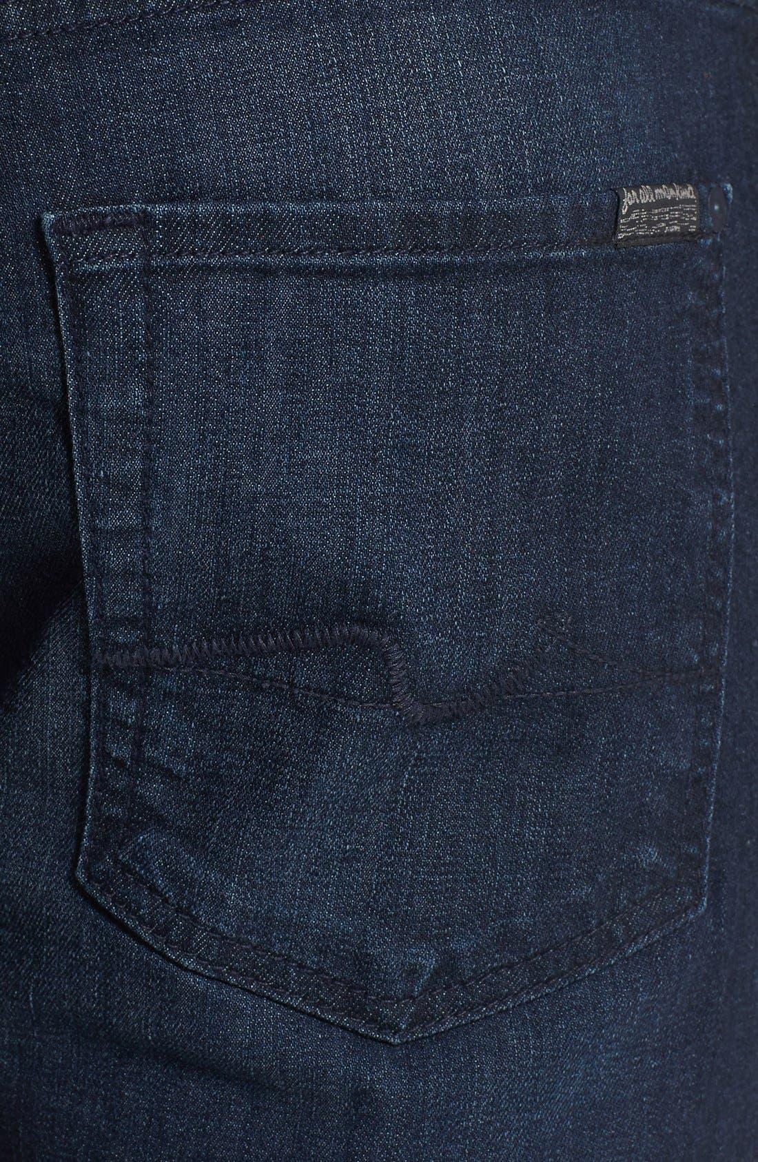 Alternate Image 4  - 7 For All Mankind® 'Brett' Bootcut Jeans (Sunset Hill Blue) (Online Only)