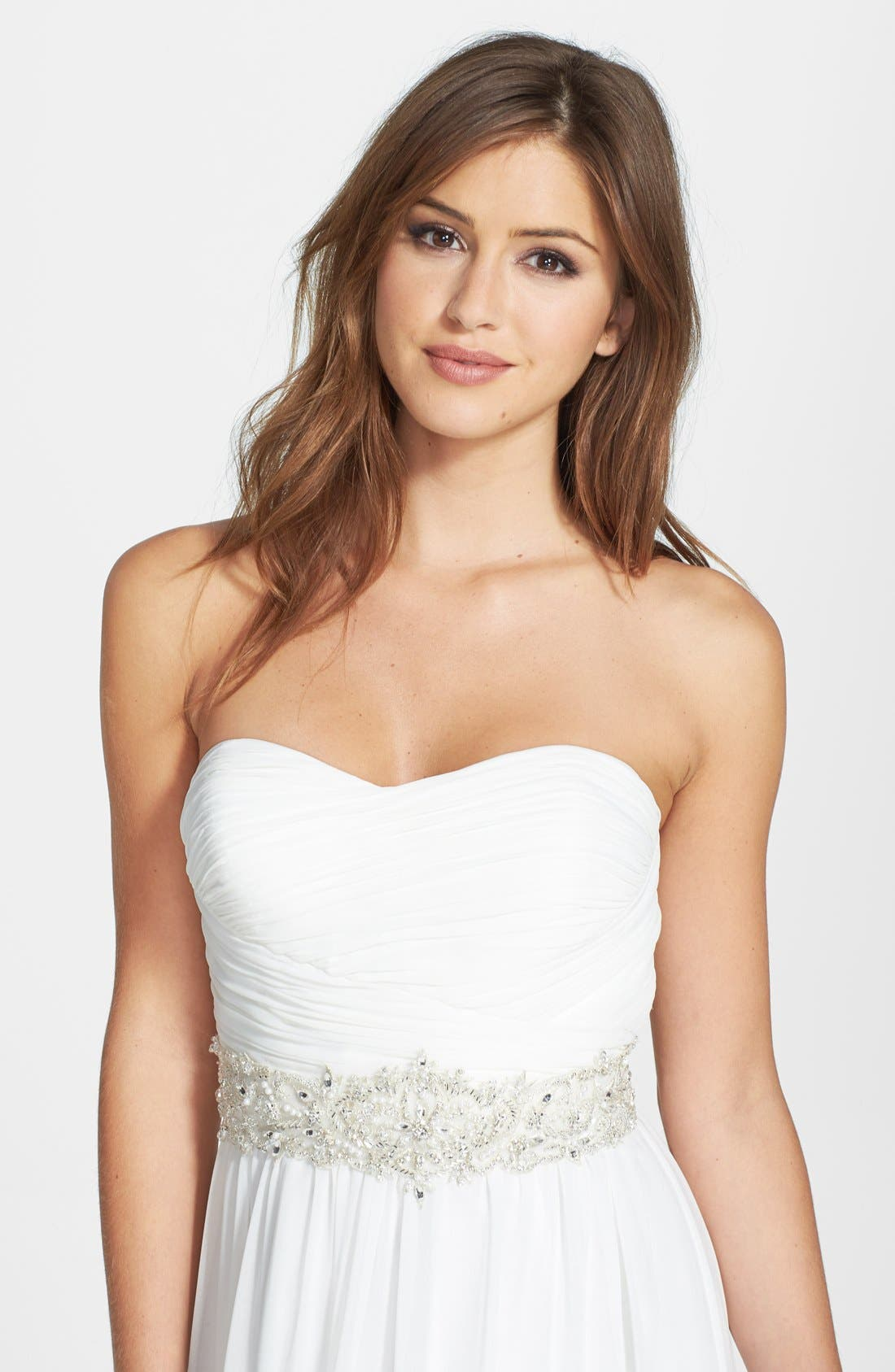 Main Image - James Clifford Collection Faux Pearl Beaded Belt