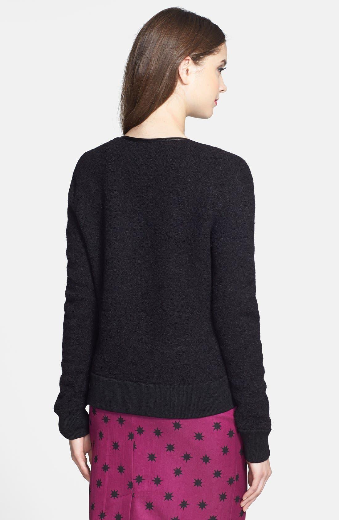 Alternate Image 2  - Halogen® Front Zip Sweater Jacket (Regular & Petite)